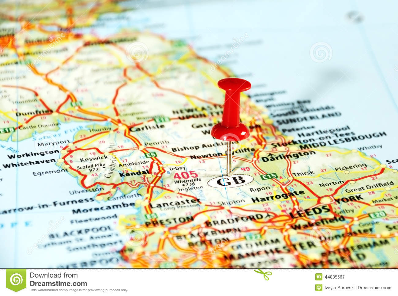 GB England Map Pin Photo Image 44885567 – England Travel Map
