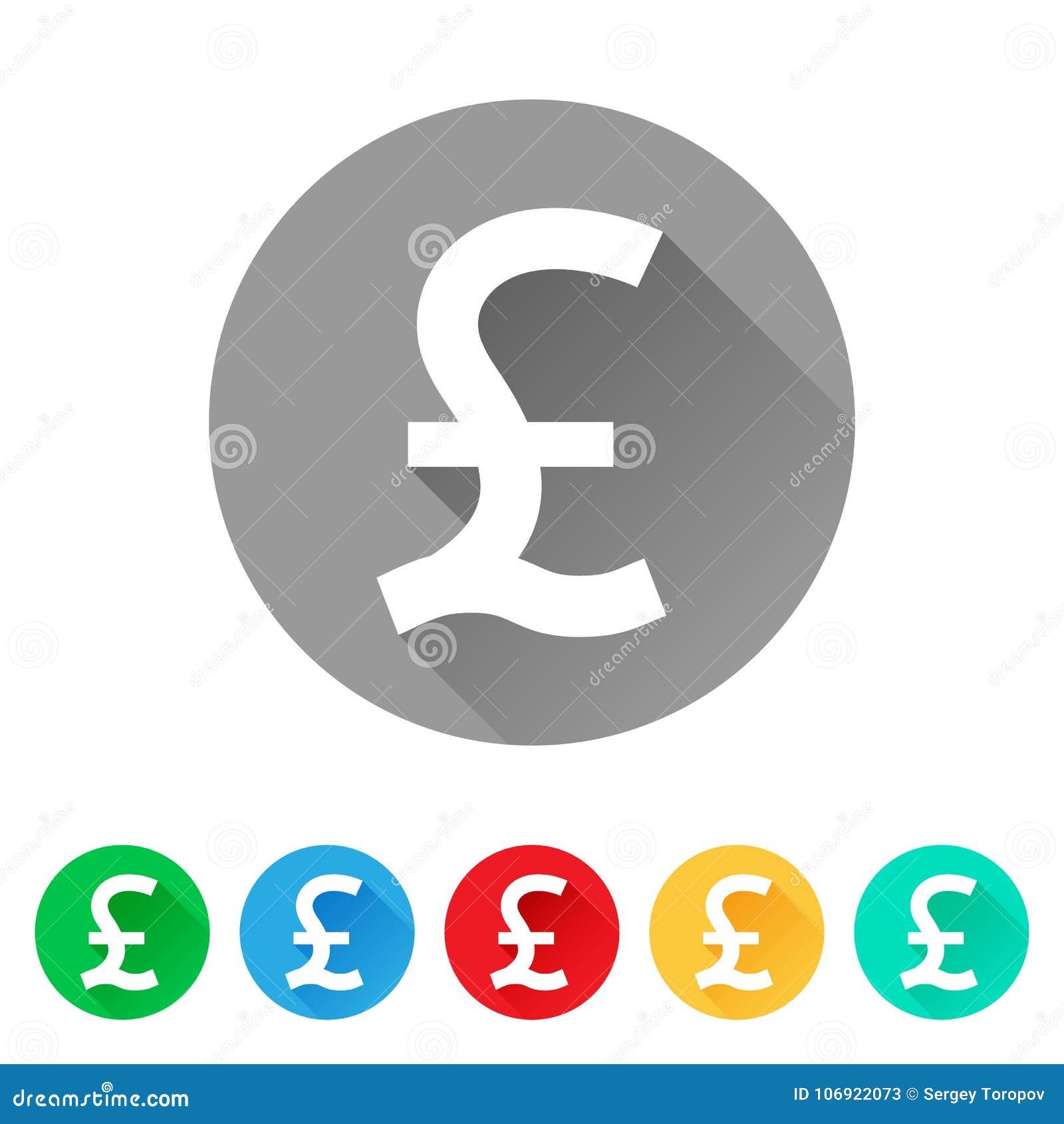 GBP, set funta znaka ikony, waluta symbol