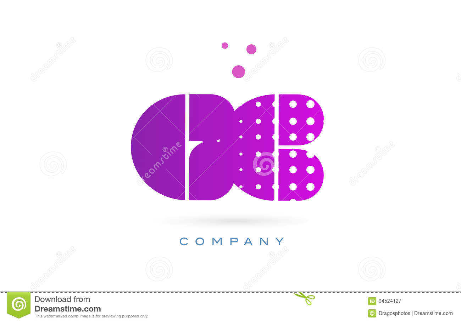 gc g c pink dots letter logo alphabet icon stock vector