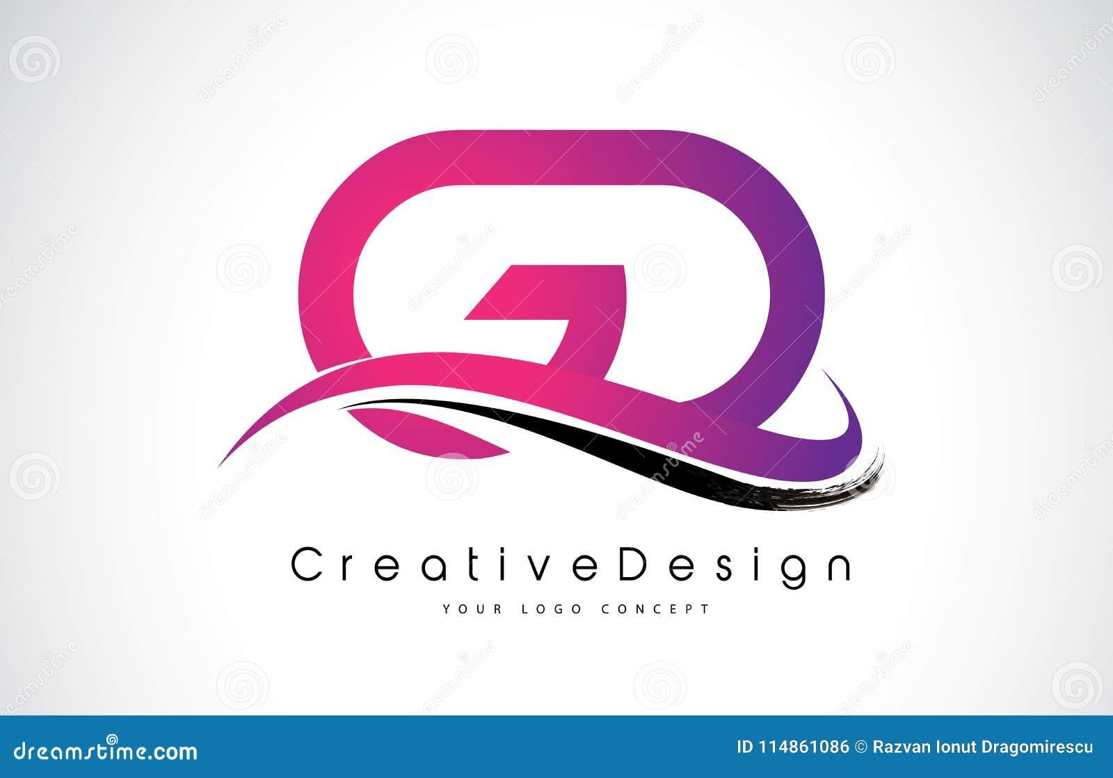 Gd Modern Business Letter Logo Design Stock Illustrations – 86 Gd ...