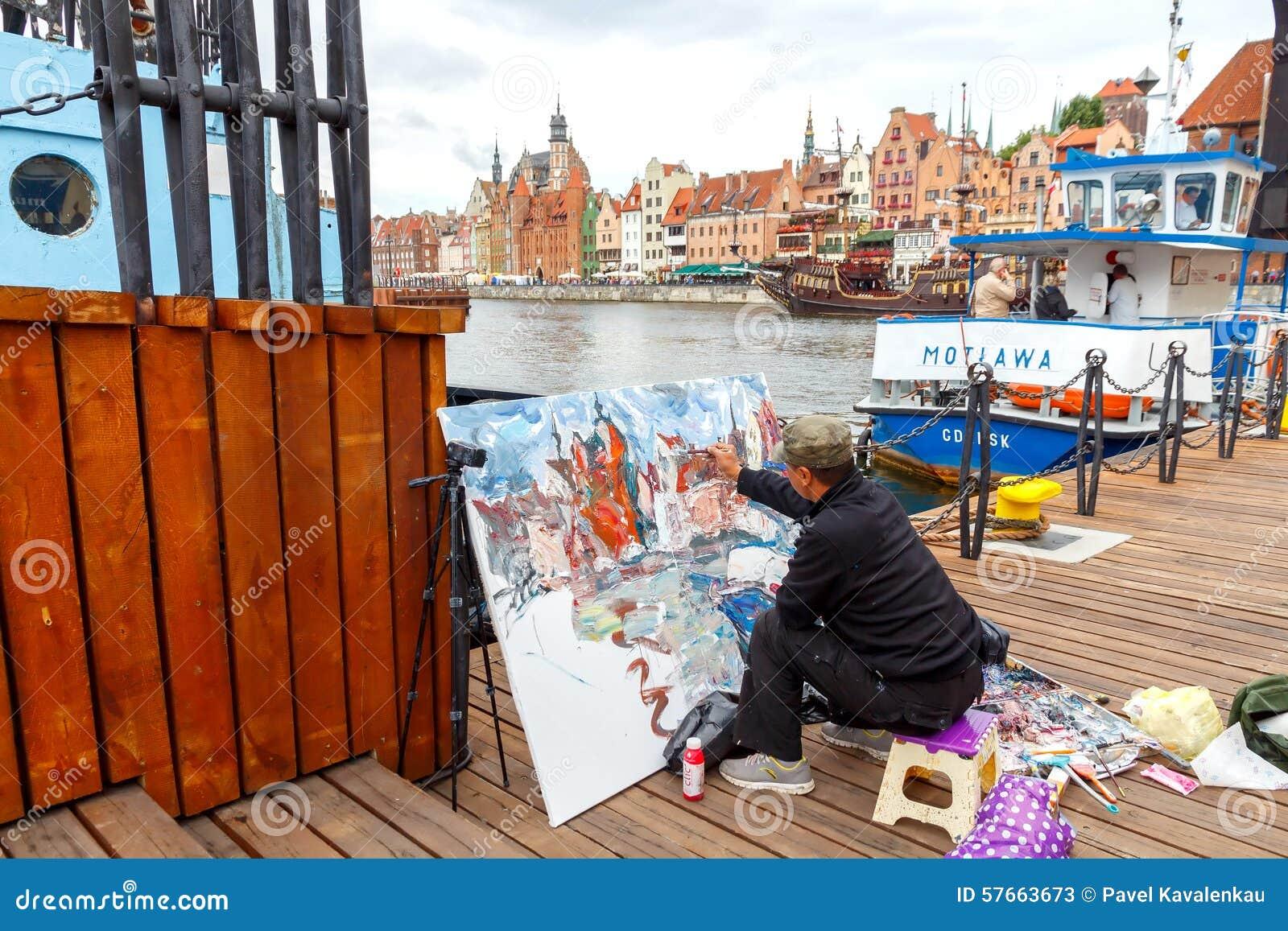 Gdansk Artysta na środkowym nabrzeżu