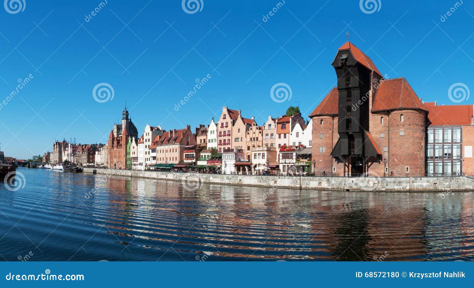 Gdansk old city panorama, Poland