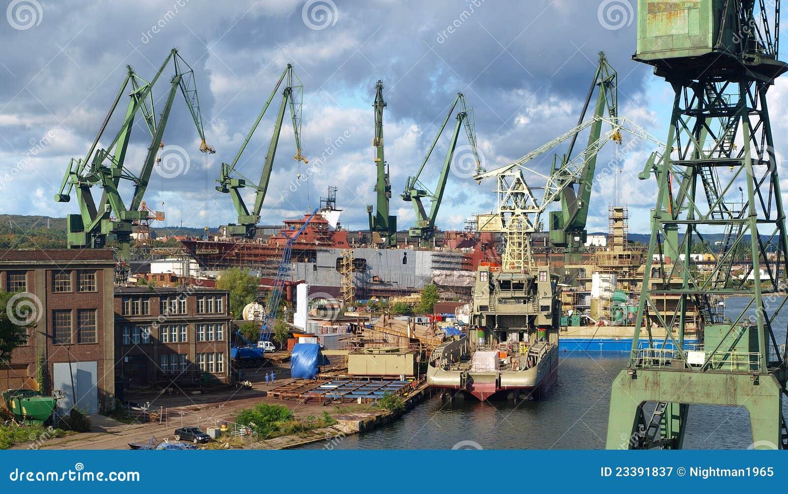Gdansk panoramy stocznia