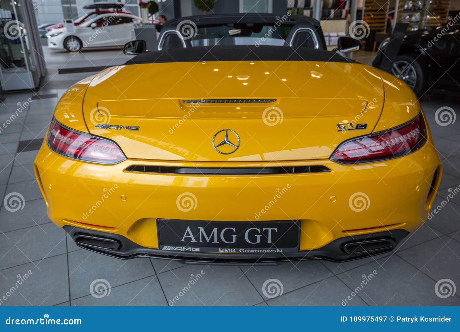 Yellow Mercedes GT C Roadster