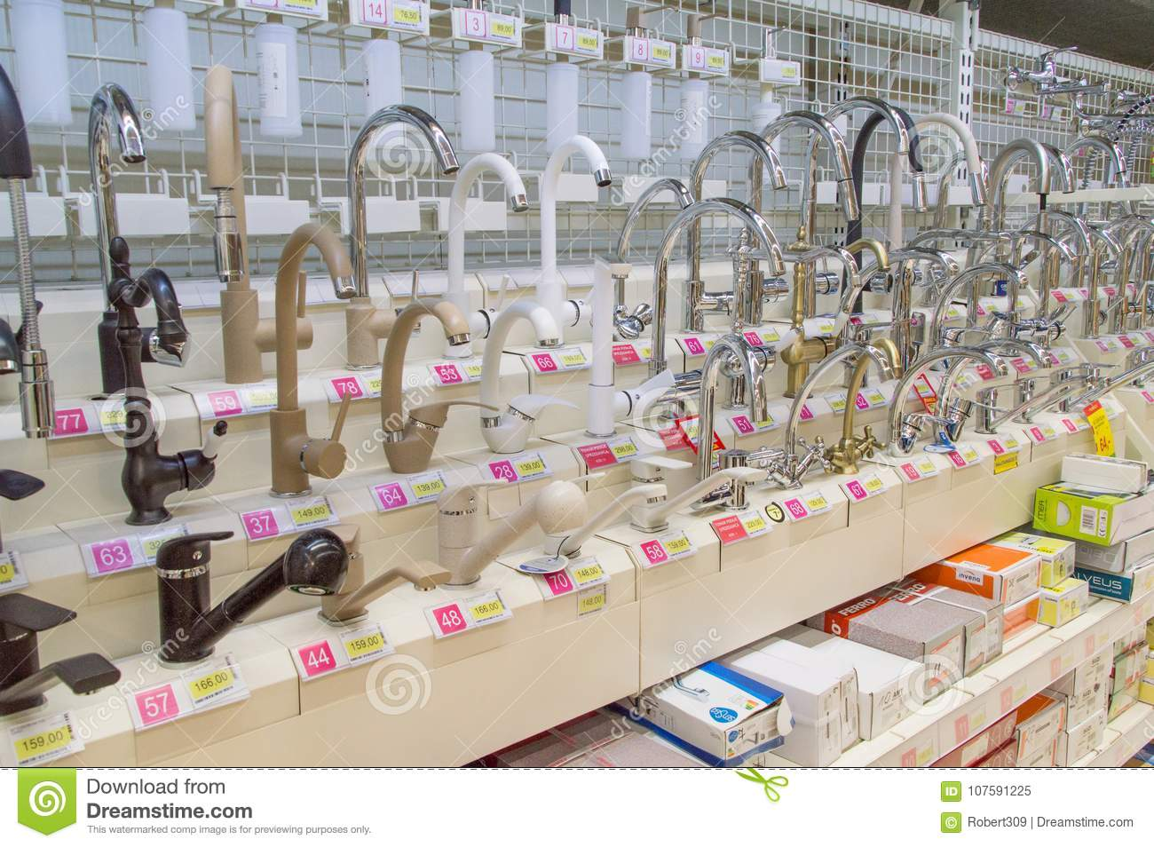 Taps Inside Leroy Merlin Store Editorial Image Image Of