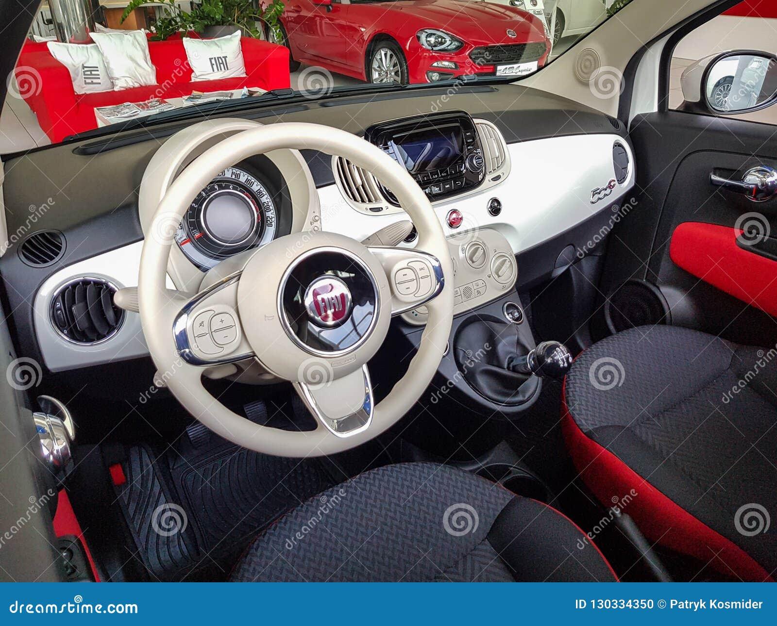 Verrassend Interior of Fiat 500 C car editorial image. Image of automotive SY-99
