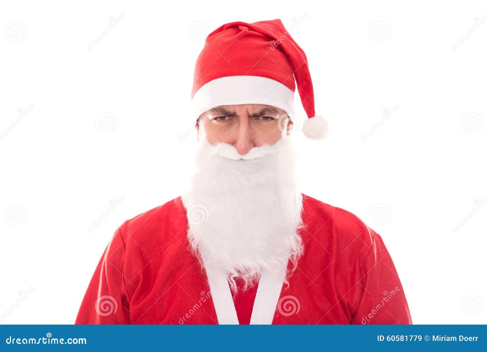Gderliwy Święty Mikołaj patrzeje Beholder, odizolowywający na bielu, C