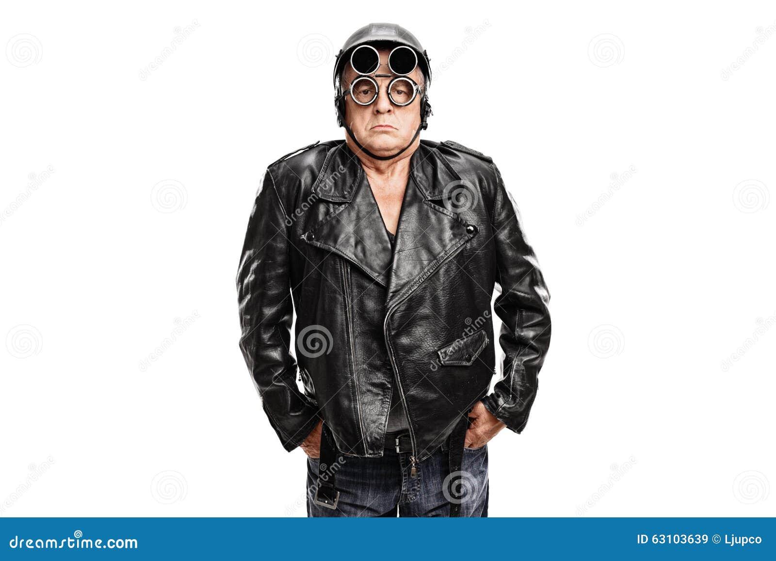 Gderliwy dojrzały motocyklista