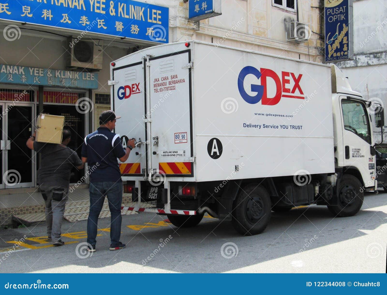GDExpress-Angestellte heraus auf Lieferung