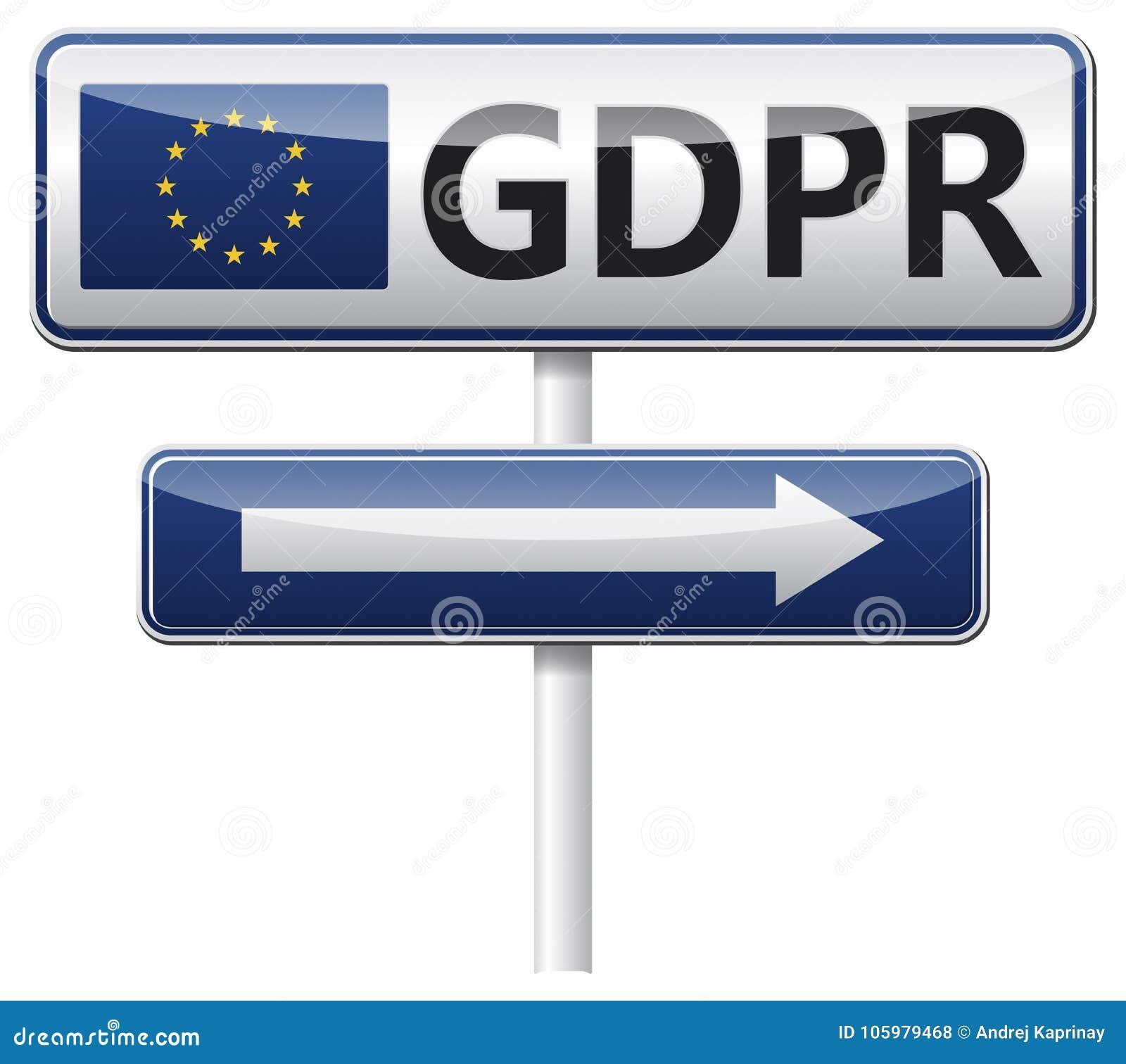 GDPR - Allgemeine Daten-Schutz-Regelung Die Umwegnadelanzeige