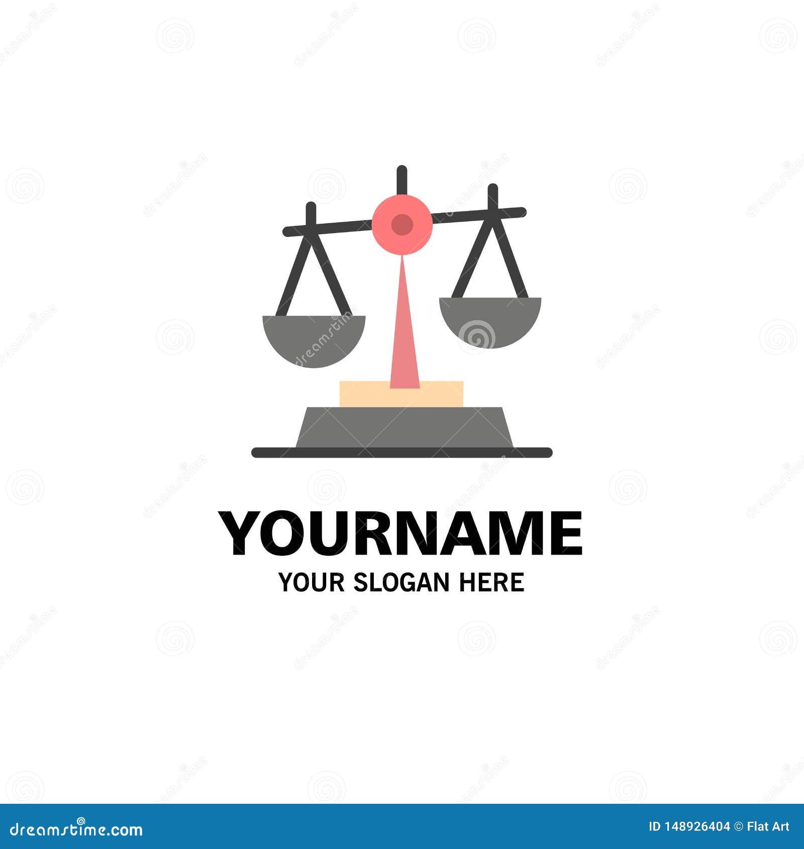 Gdpr, justicia, ley, negocio Logo Template de la balanza color plano