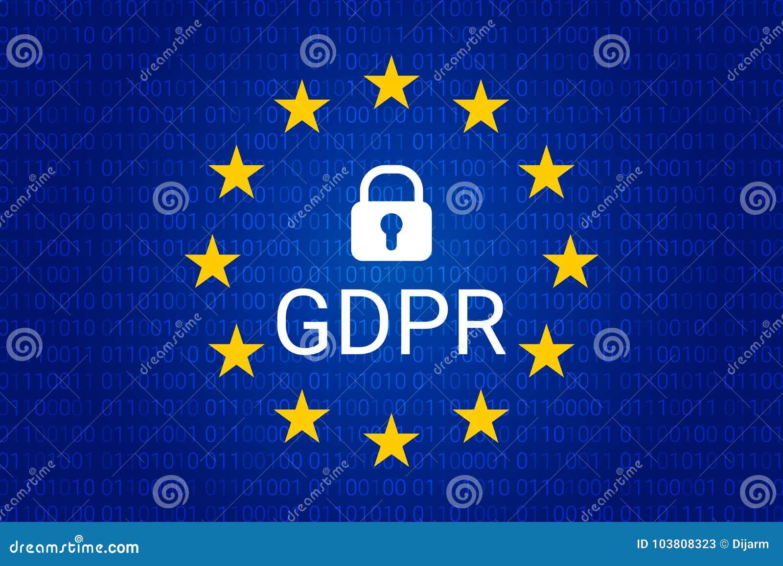GDPR - Règlement général de protection des données Vecteur