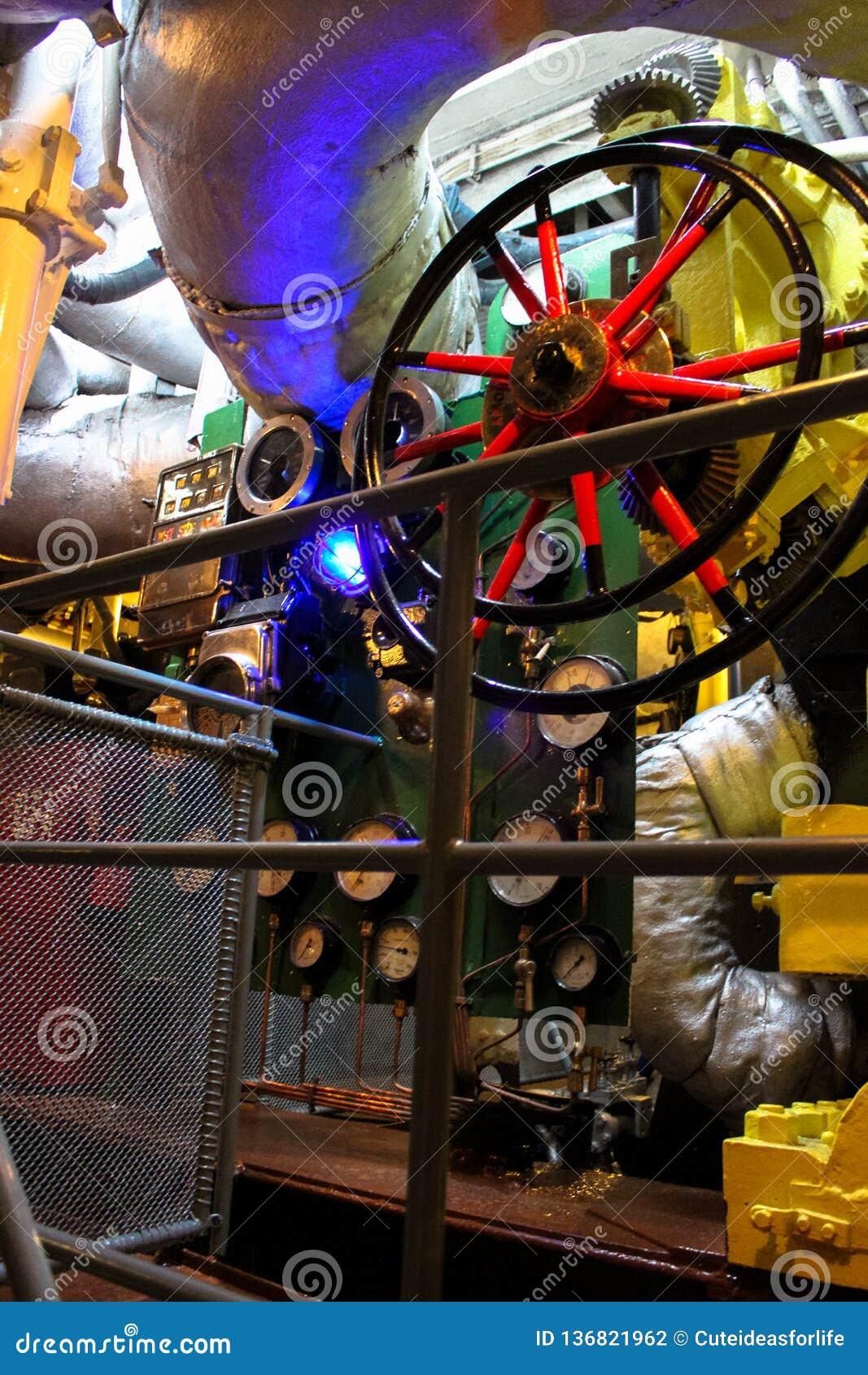 Battleship Engine Room: The Engine Room Of The Polish Warship