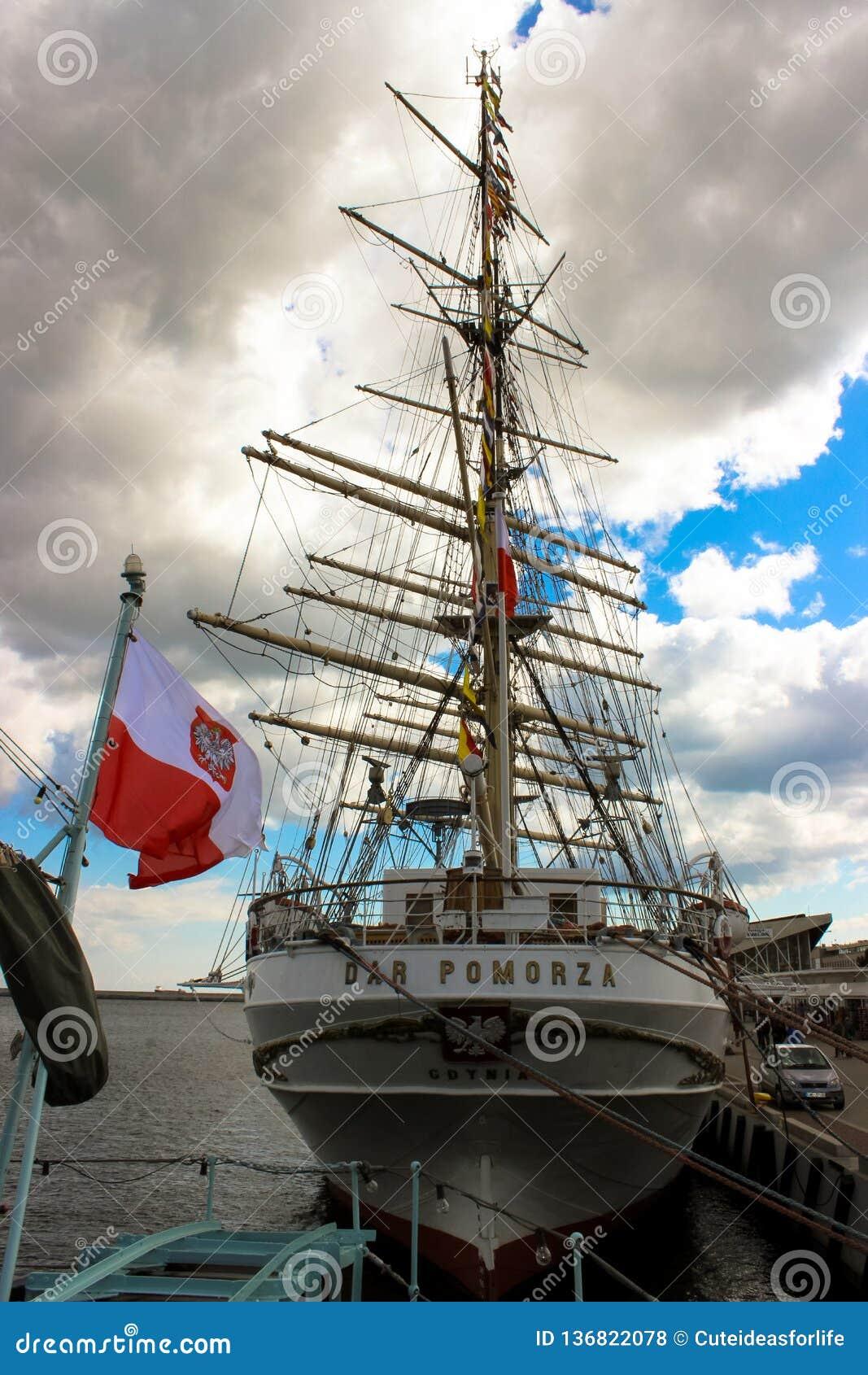 "Gdynia, Poland - View of the ship ""Dar Pomorza"
