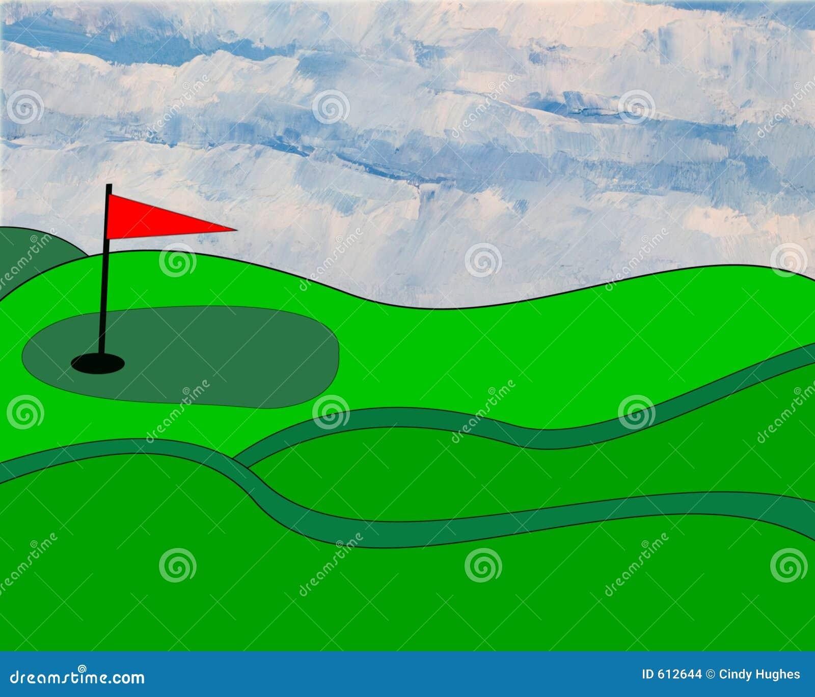 Geïllustreerdi golfgreen
