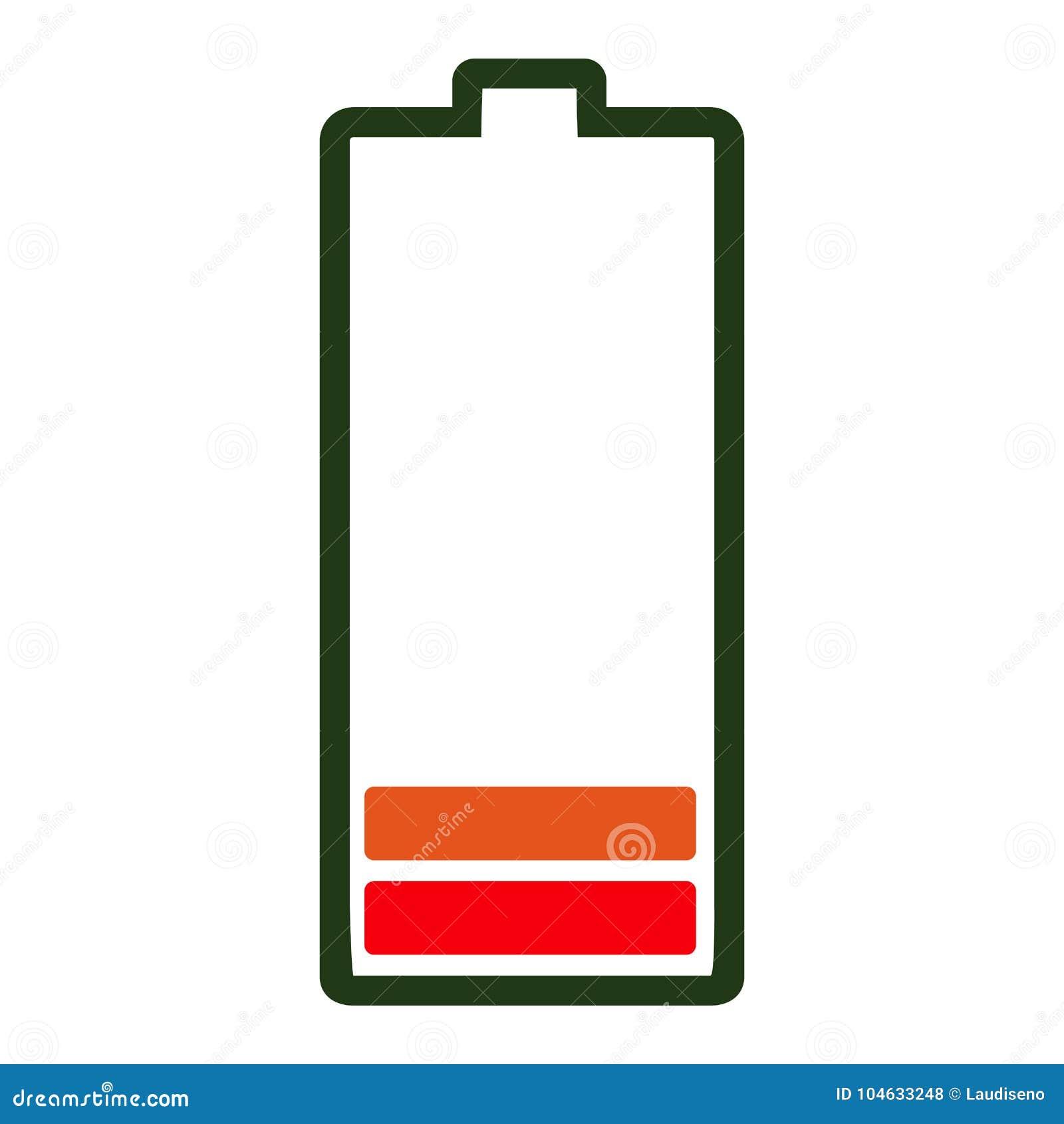 Download Geïsoleerd Batterijpictogram Vector Illustratie - Illustratie bestaande uit ontwerp, voorwerp: 104633248