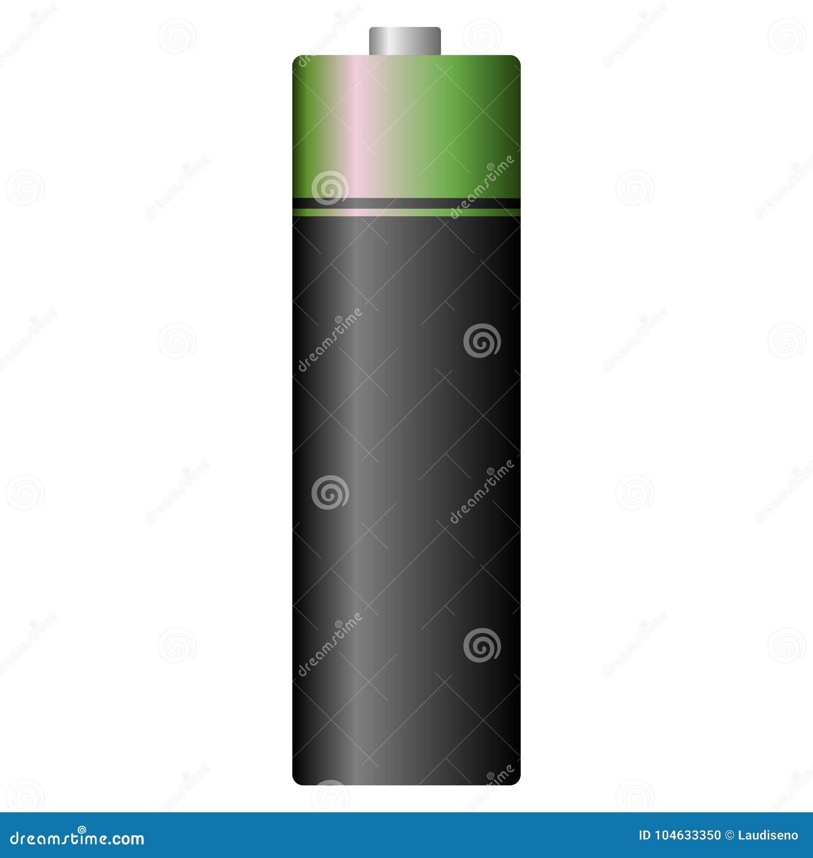 Download Geïsoleerd Batterijpictogram Vector Illustratie - Illustratie bestaande uit volledig, macht: 104633350