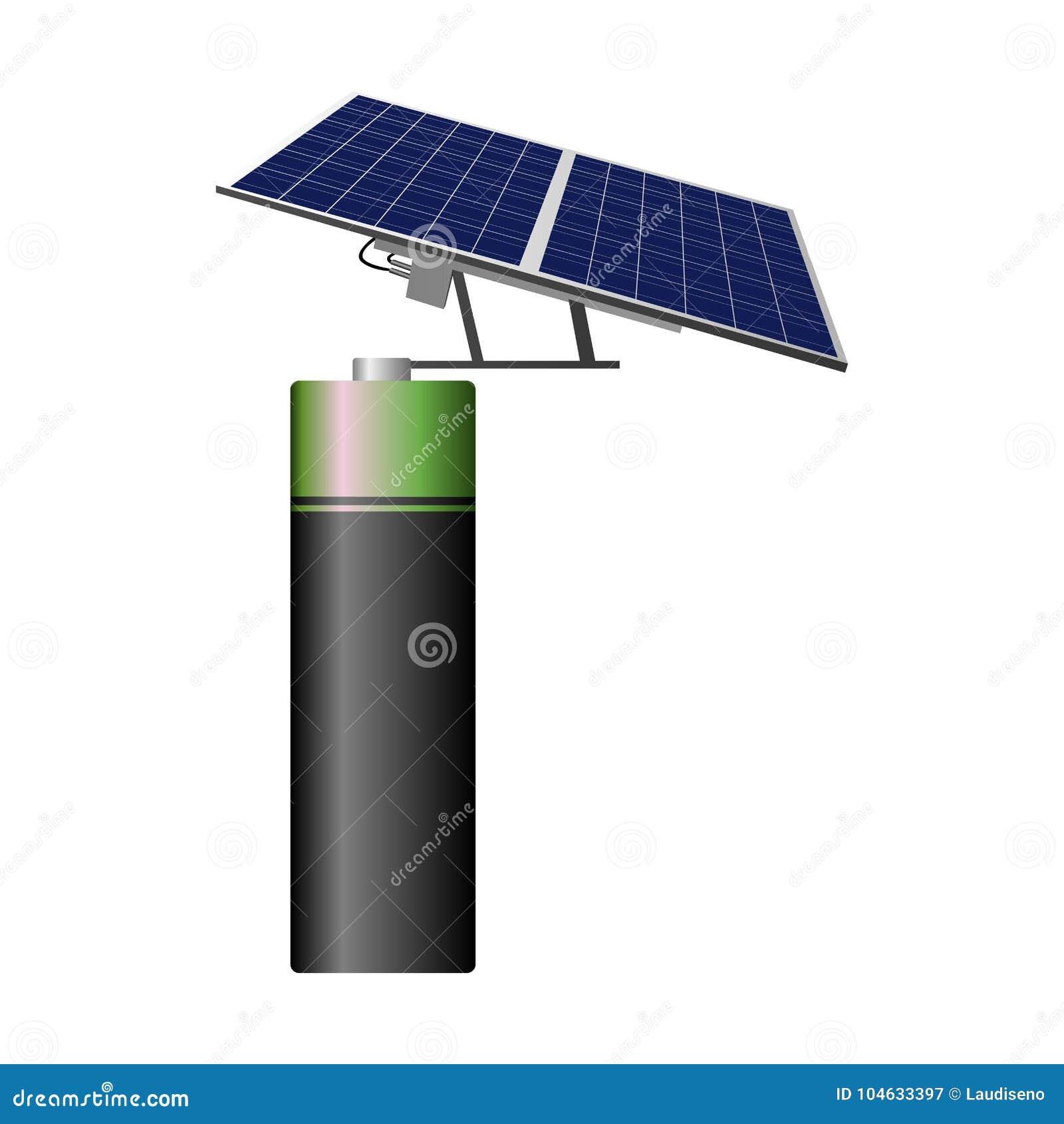 Download Geïsoleerd Batterijpictogram Vector Illustratie - Illustratie bestaande uit elektrisch, herladen: 104633397