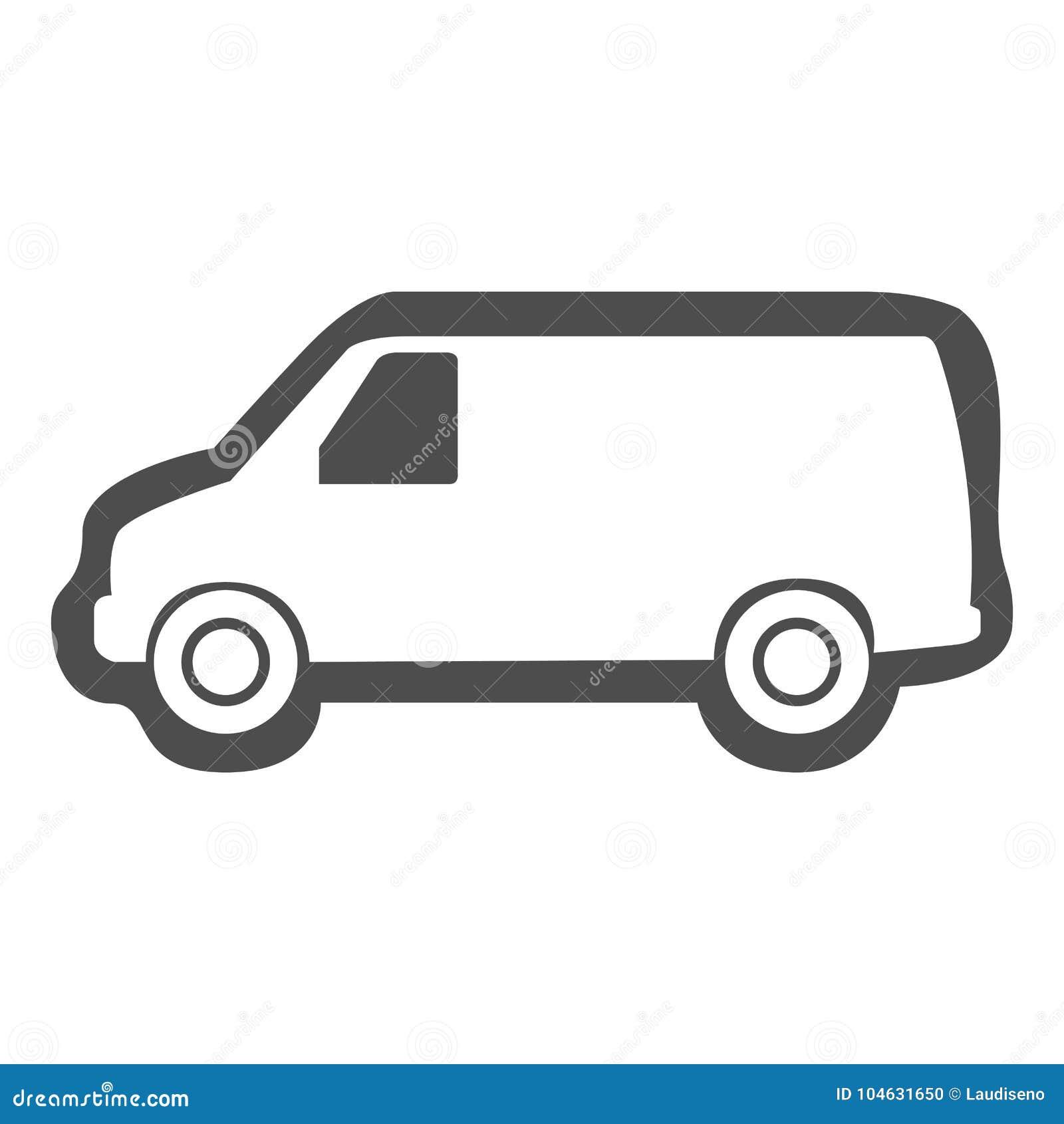 Download Geïsoleerd Bestelwagenpictogram Vector Illustratie - Illustratie bestaande uit pictogram, commercieel: 104631650