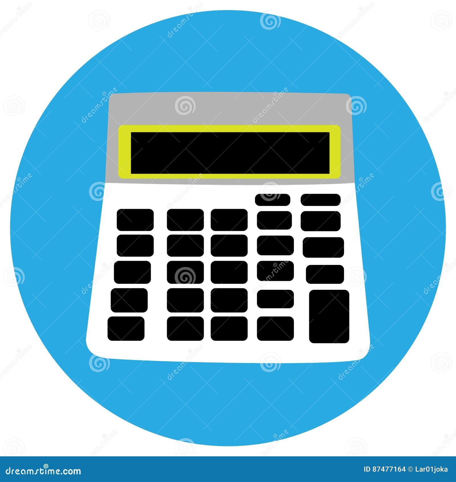 Geïsoleerd calculatorpictogram