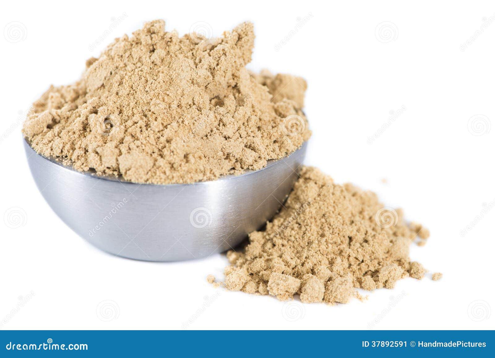 Geïsoleerd Ginger Powder
