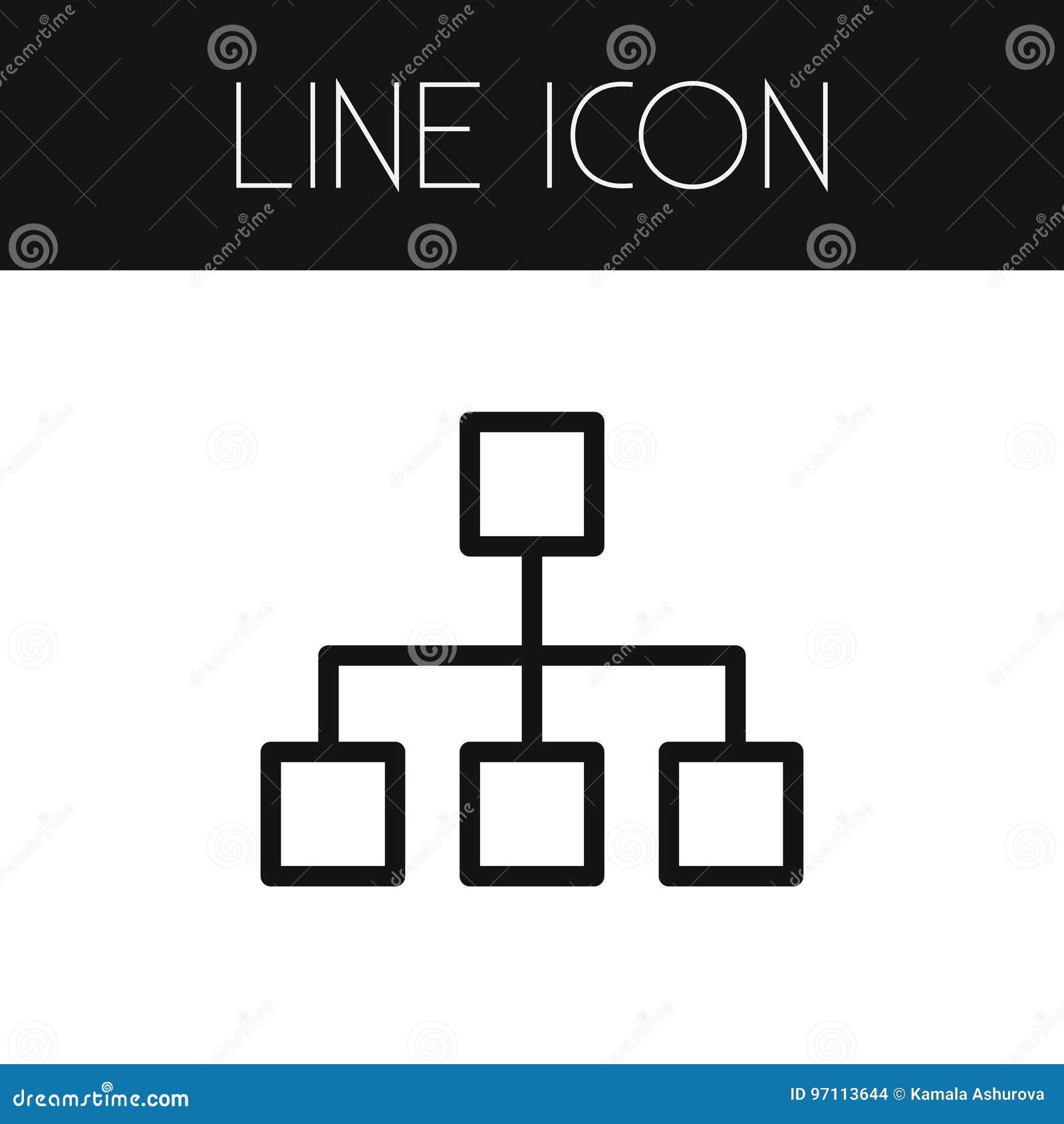 Geïsoleerd Hiërarchieoverzicht Kan het structuur Vectorelement voor Hiërarchie, Structuur, Modeldesign concept worden gebruikt