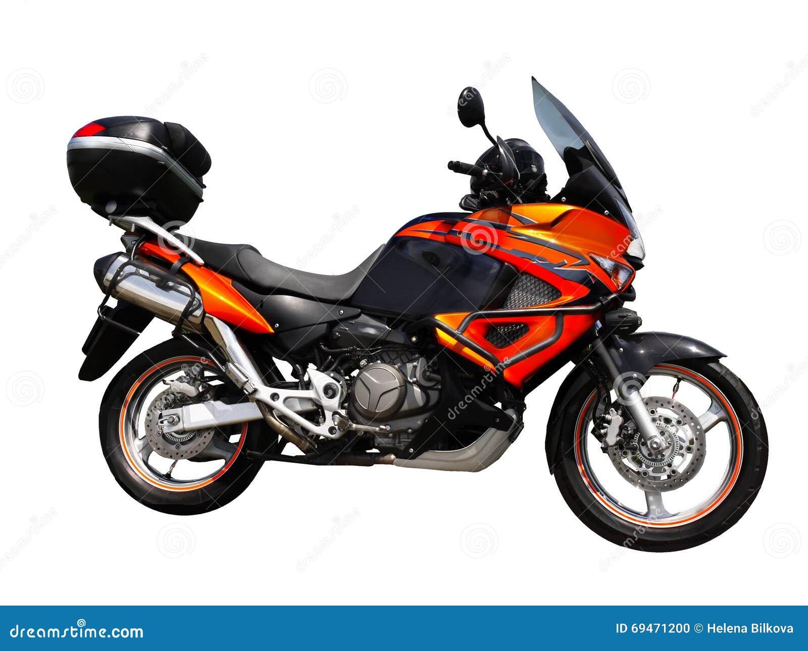 Geïsoleerd motorfiets zijaanzicht