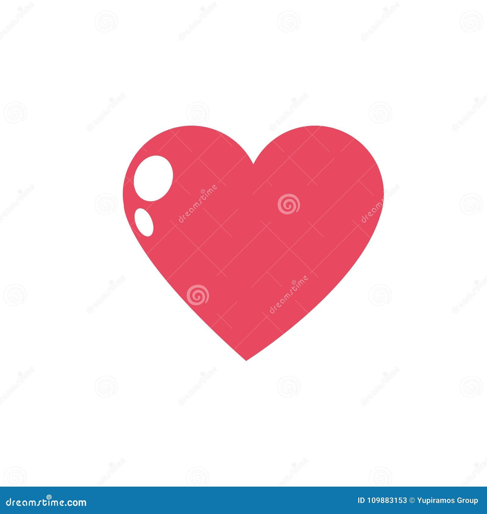Geïsoleerd roze hartontwerp