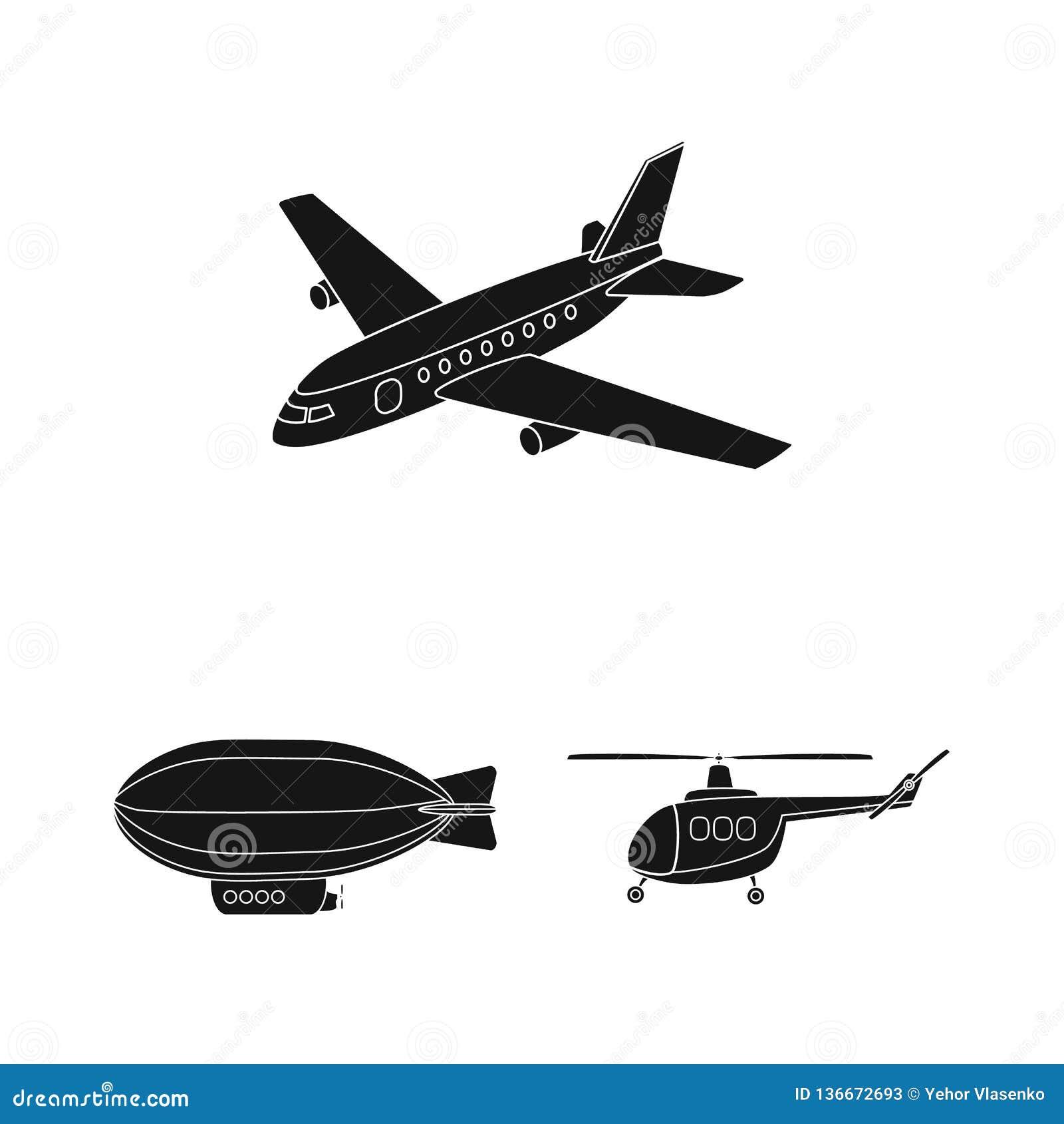 Geïsoleerd voorwerp van vervoer en objecten embleem Reeks van vervoer en glijdende voorraad vectorillustratie