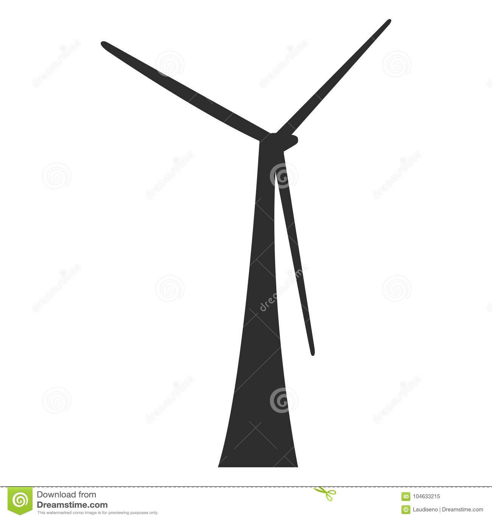 Download Geïsoleerd Windmolensilhouet Vector Illustratie - Illustratie bestaande uit traditioneel, wind: 104633215