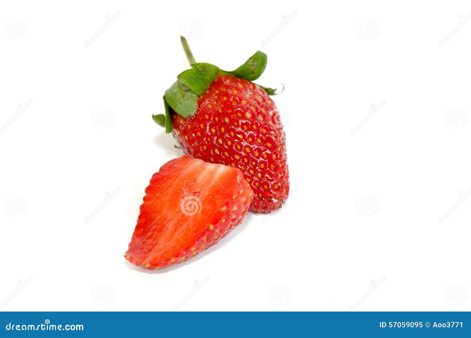 Geïsoleerde- aardbei