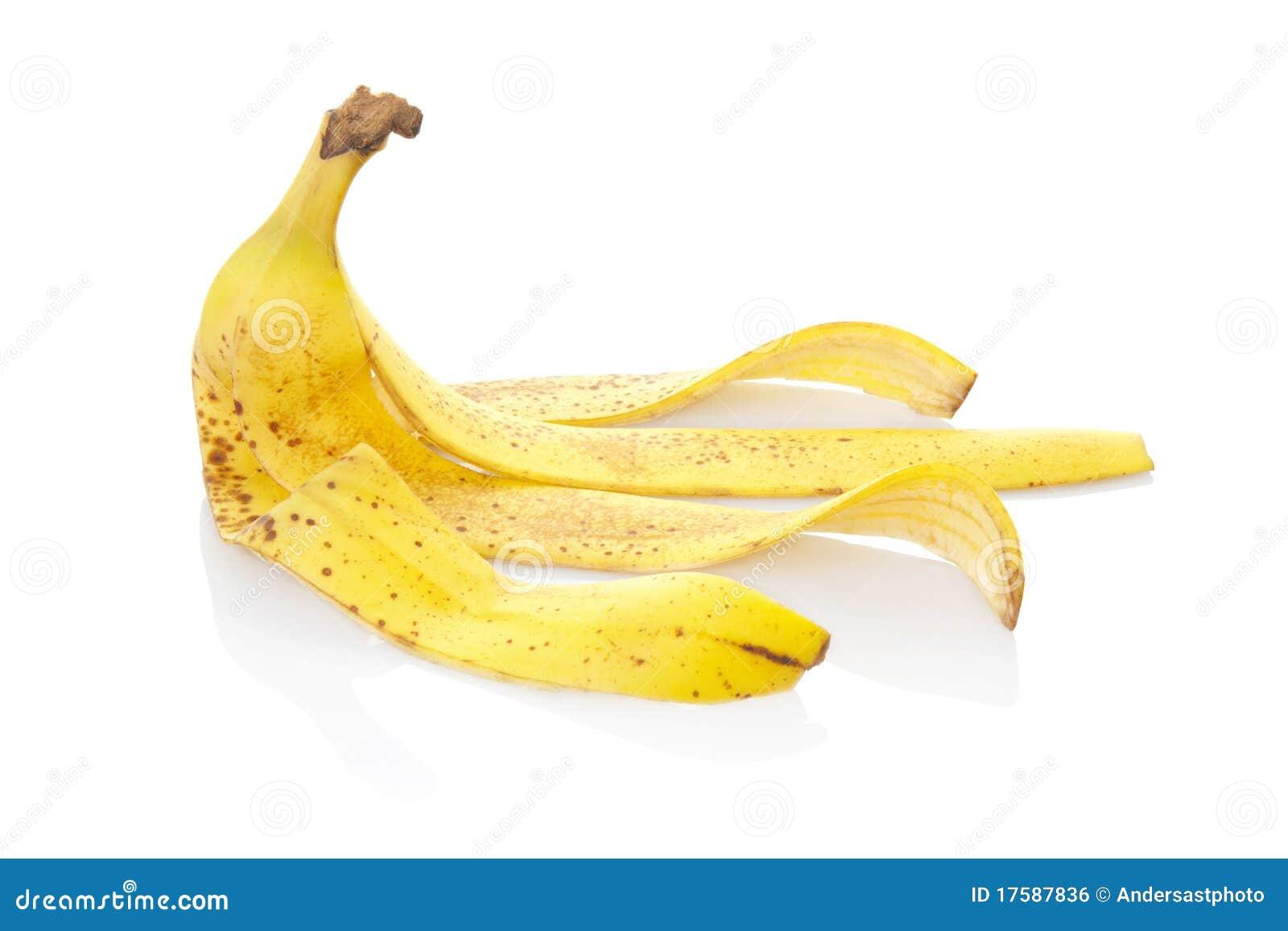 Geïsoleerde de schil van de banaan