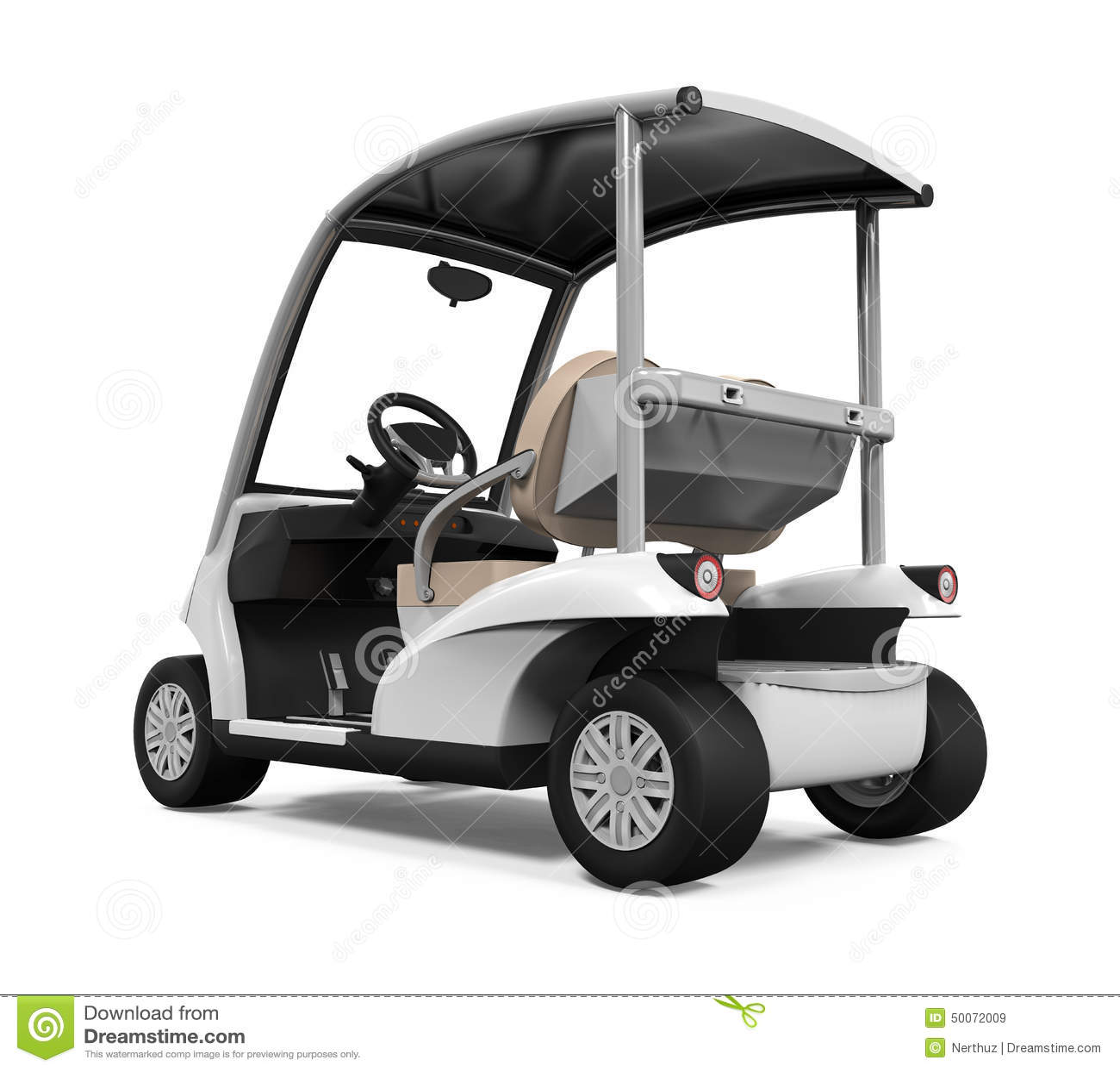 Geïsoleerde golfauto