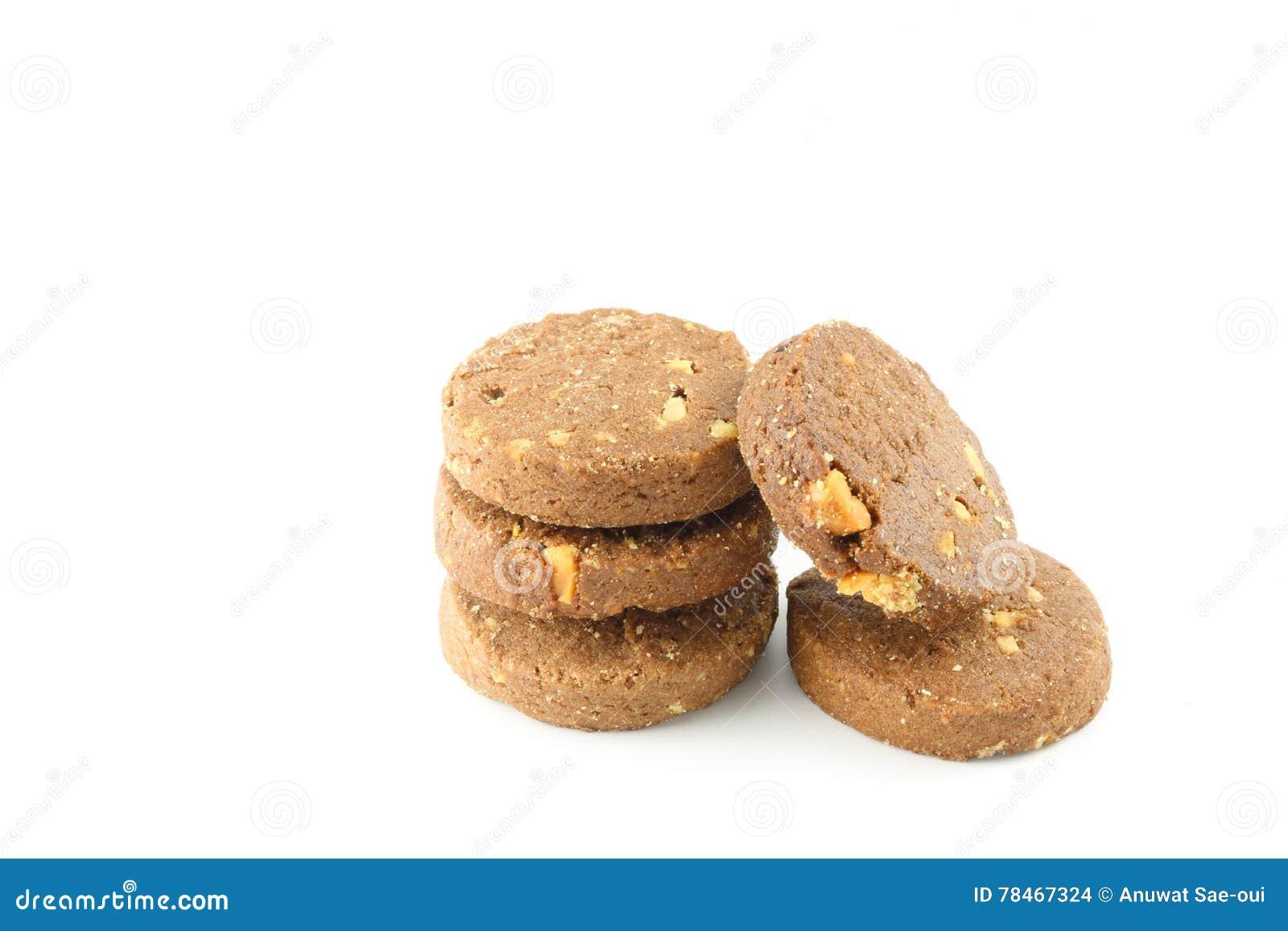 Geïsoleerde het koekje van de chocolade
