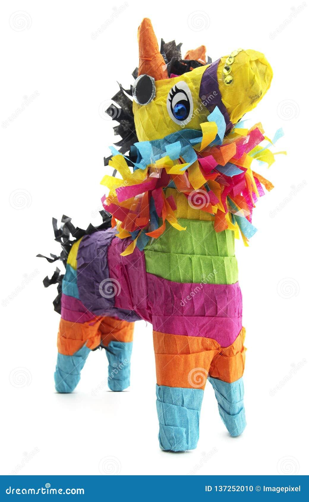 Geïsoleerde Mexicaanse Burro-Ezel Piñata