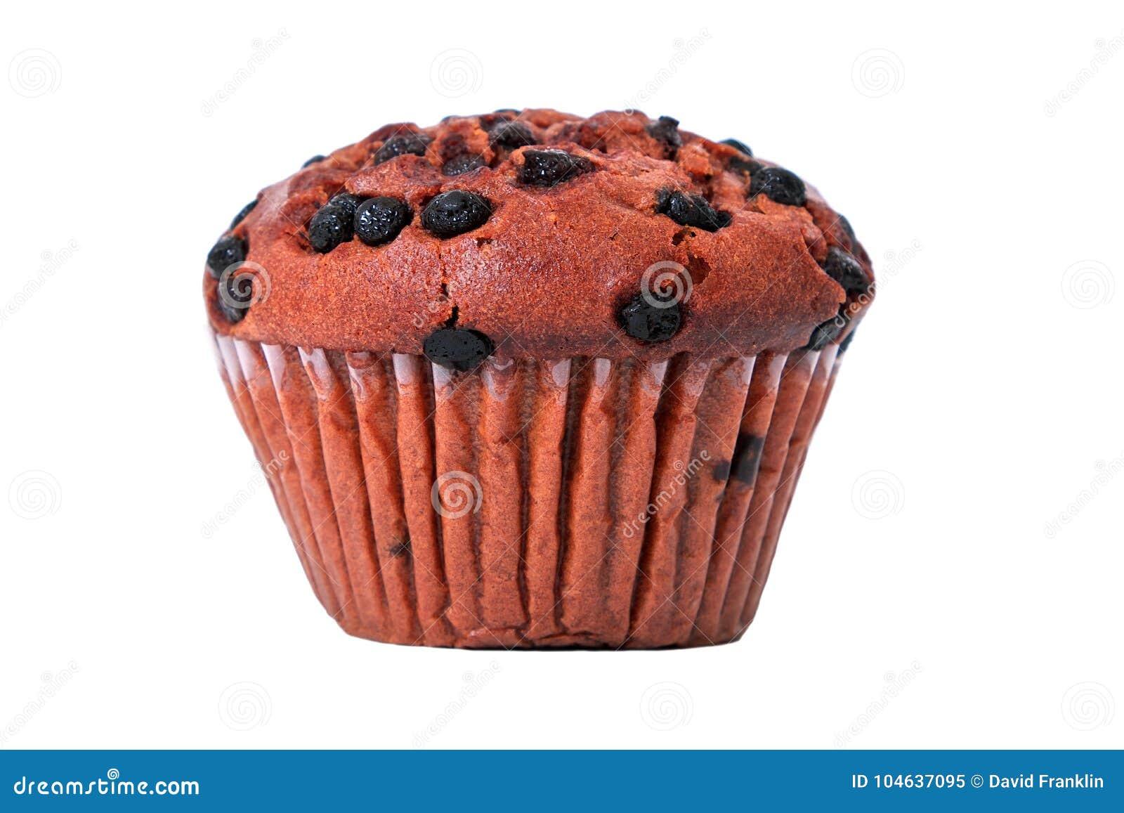 Download Geïsoleerde Muffinchocoladeschilfer Stock Afbeelding - Afbeelding bestaande uit cupcake, muffin: 104637095