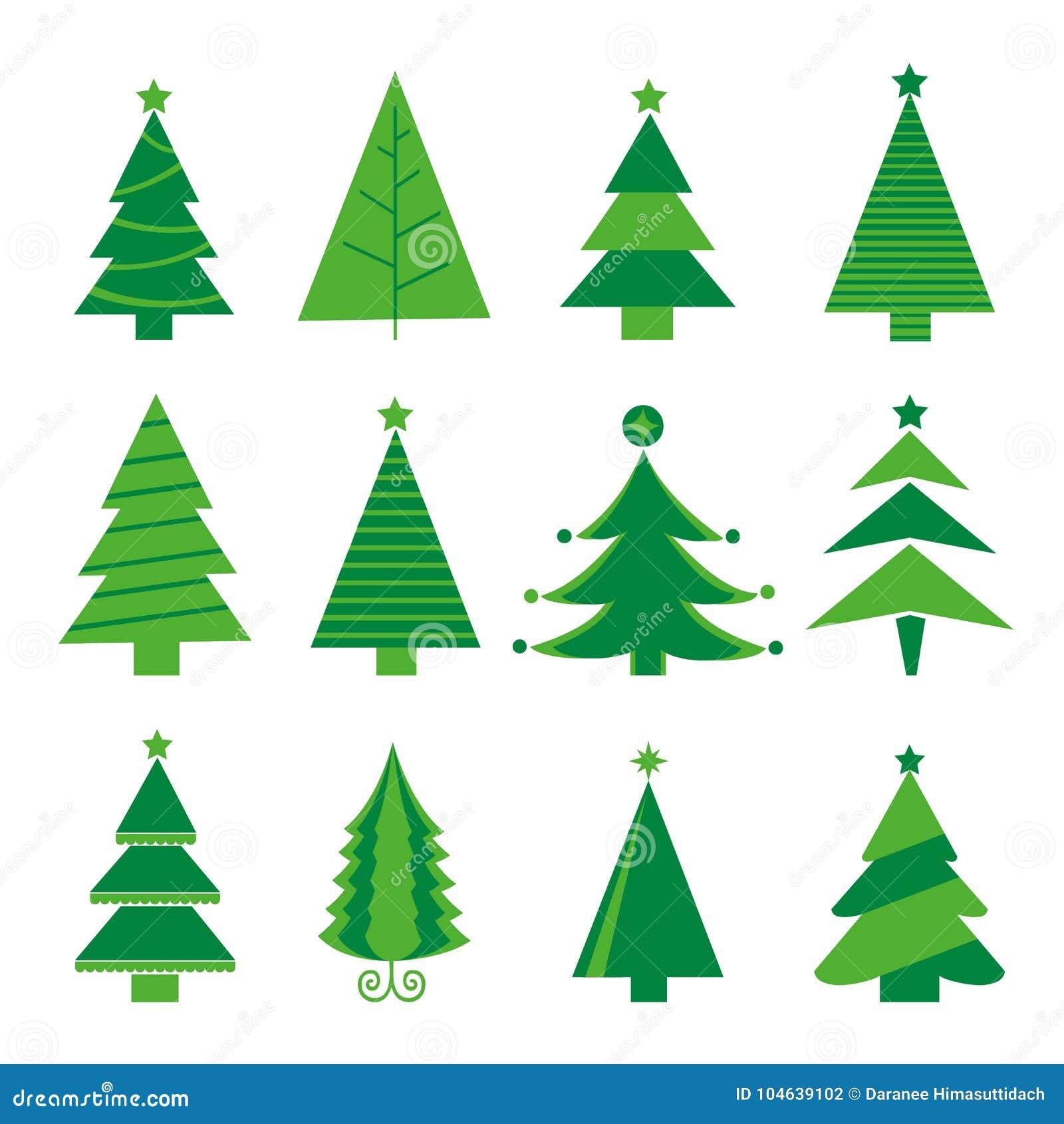 Download Geïsoleerde Vector Van Boom De Vrolijke Kerstmis Pictogram Vector Illustratie - Illustratie bestaande uit groet, december: 104639102