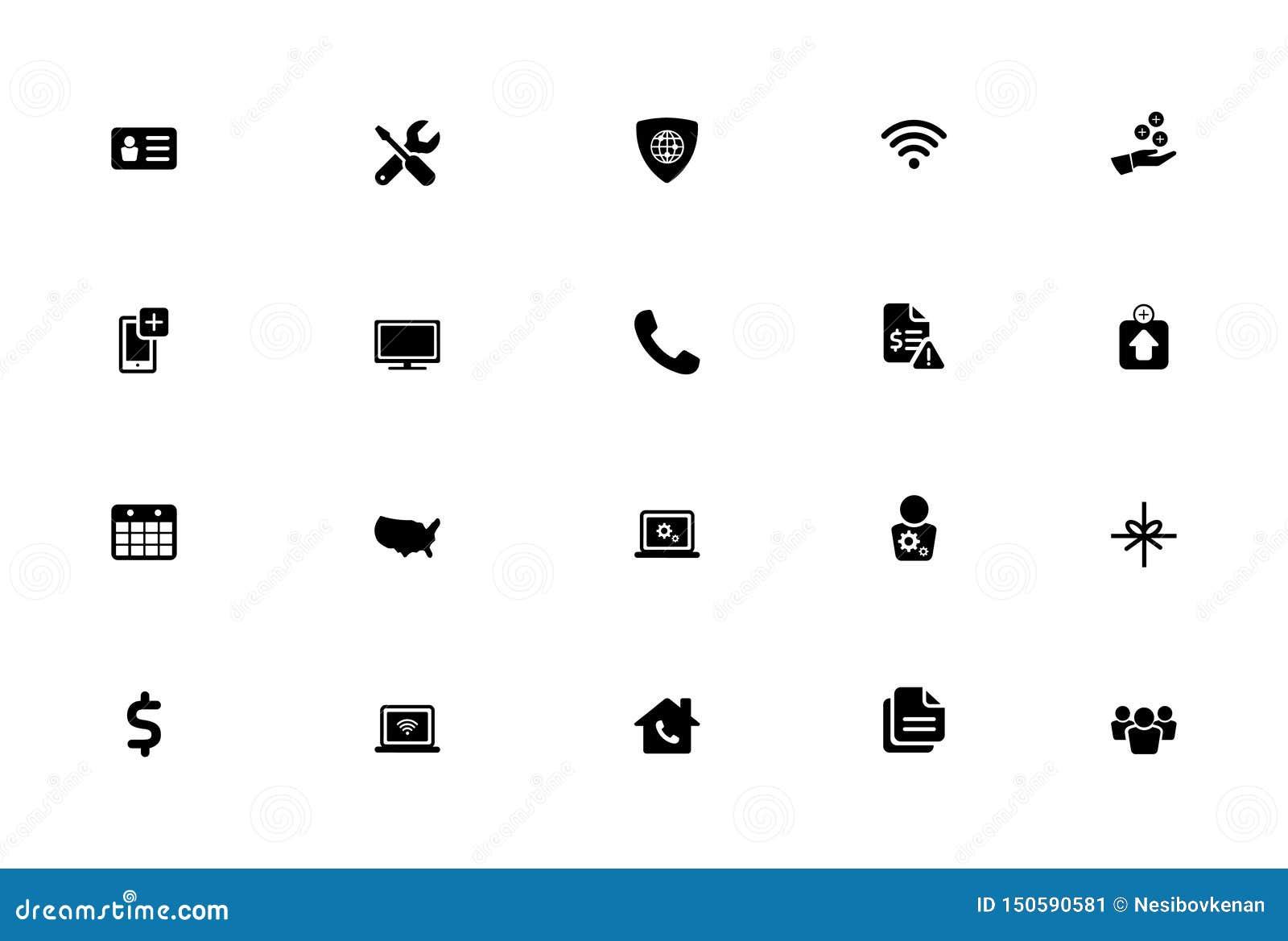 Geïsoleerde Vector Vlakke Pictogramreeks, Voorzien van een netwerk, Bankwezen, Financiënpictogrammen