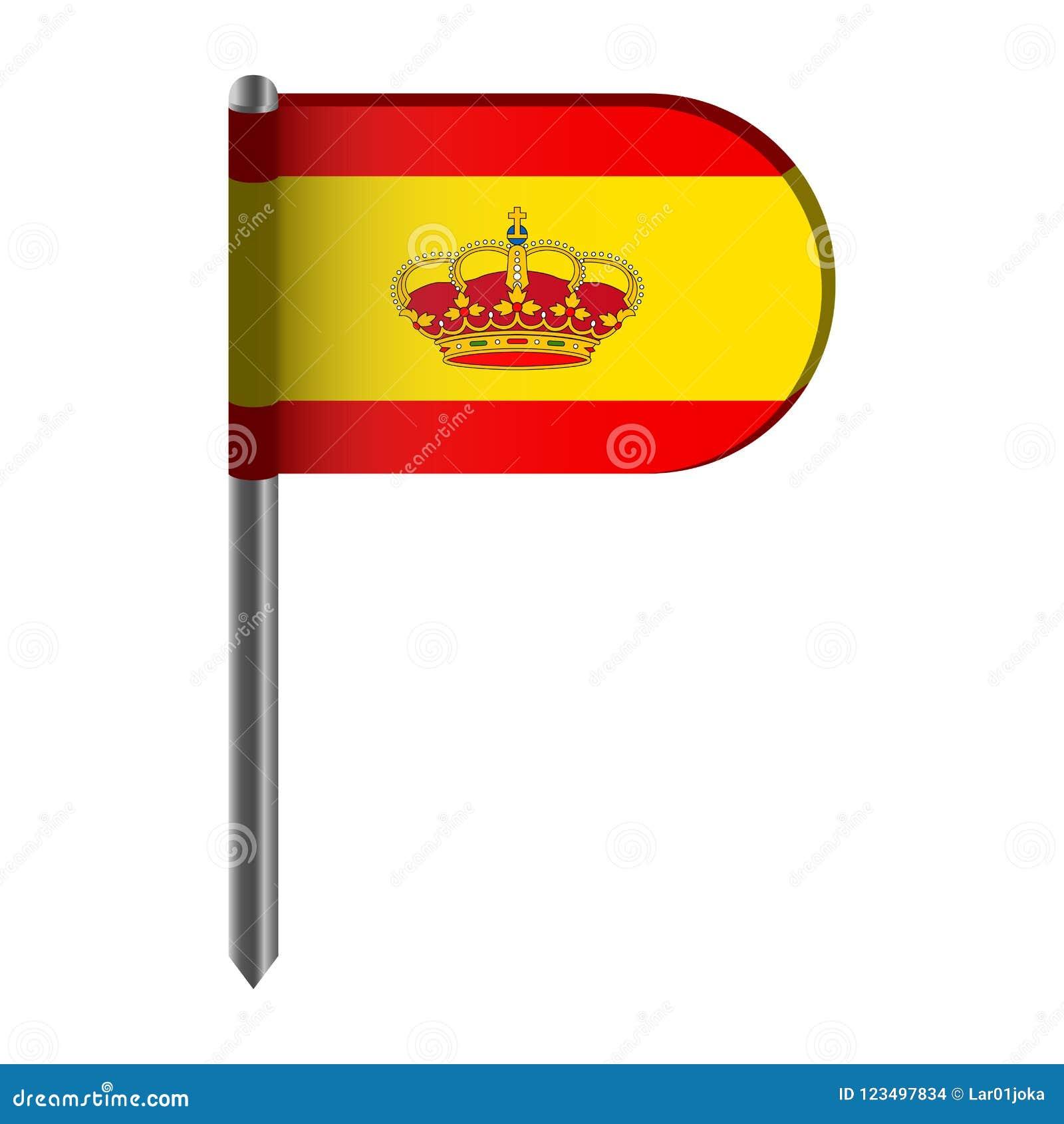 Geïsoleerde vlag van Spanje