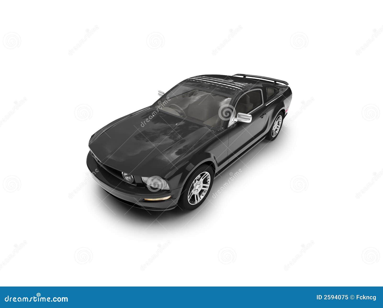 Geïsoleerde zwart auto vooraanzicht