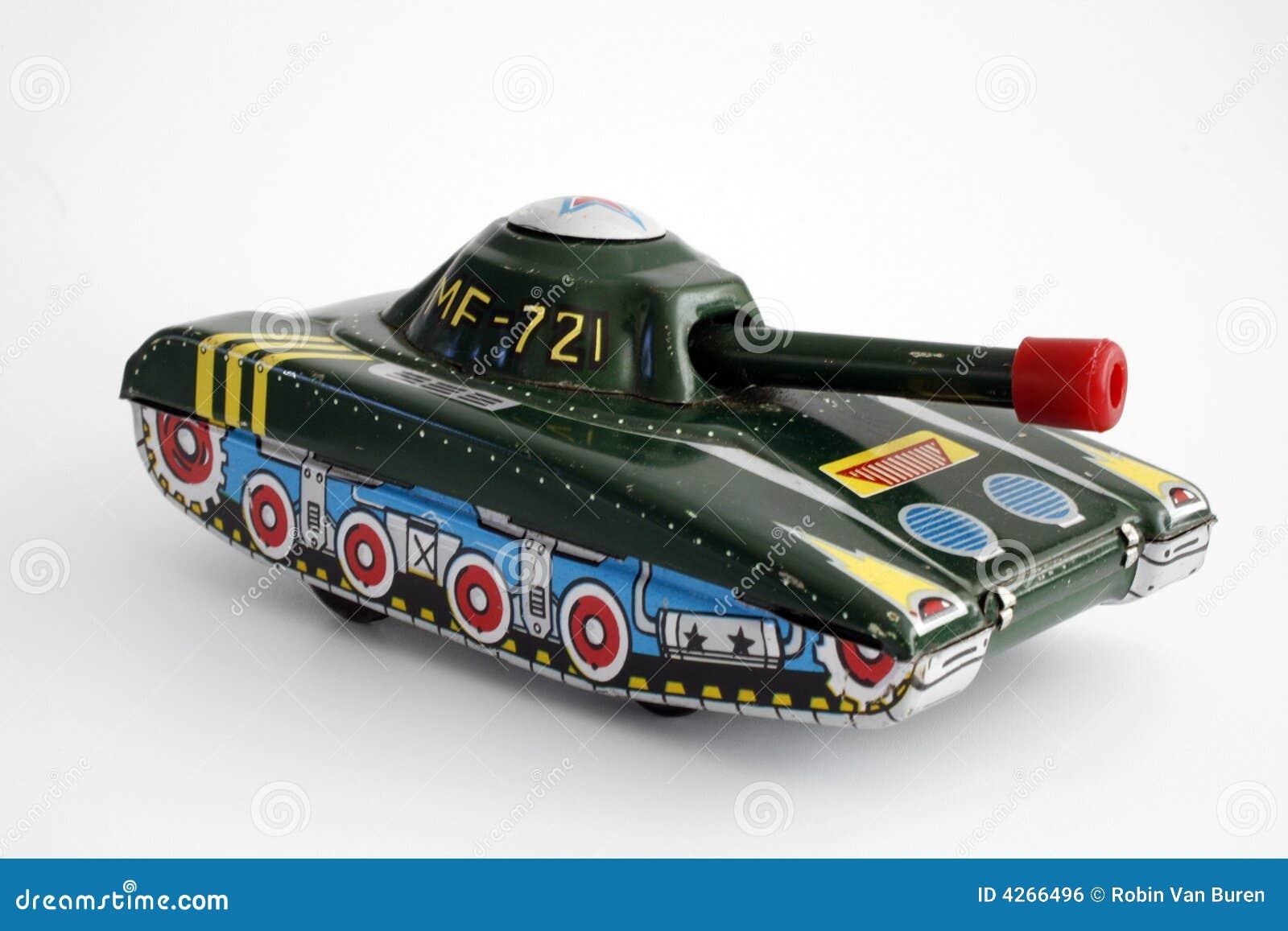 Geïsoleerdea de Tank van het stuk speelgoed
