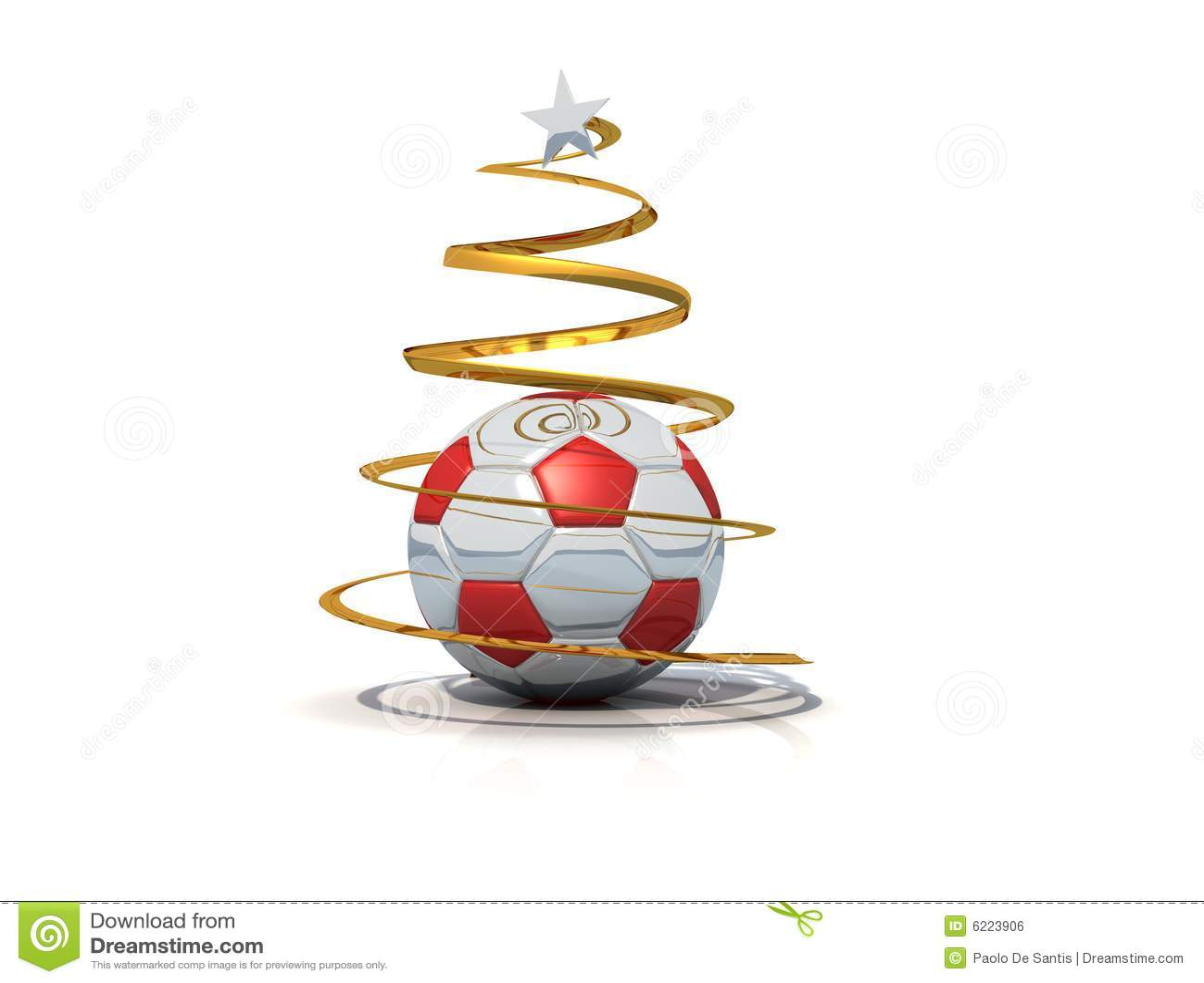 Geïsoleerdeb Kerstmisboom van het voetbal