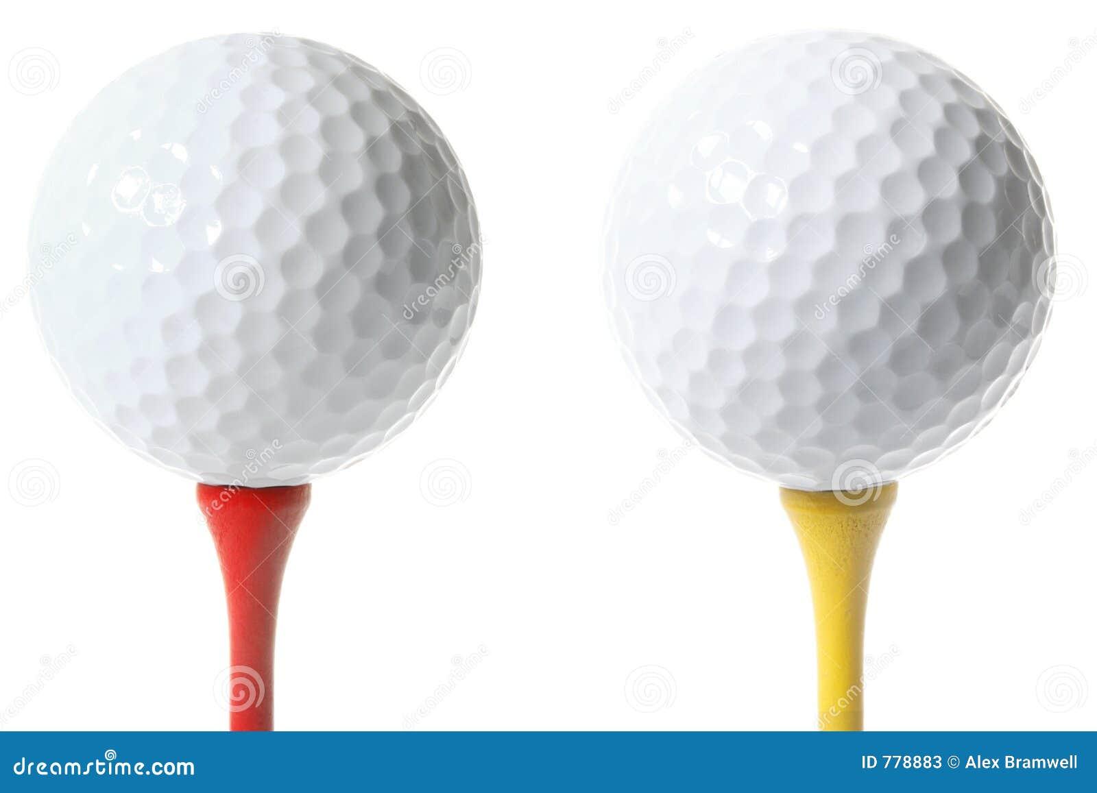 Geïsoleerded Golfballen