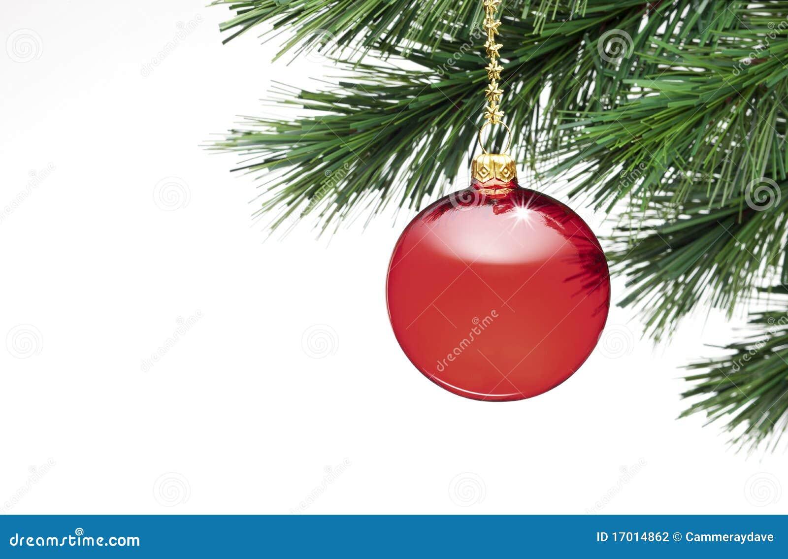 Geïsoleerdee het Ornament van de kerstboom