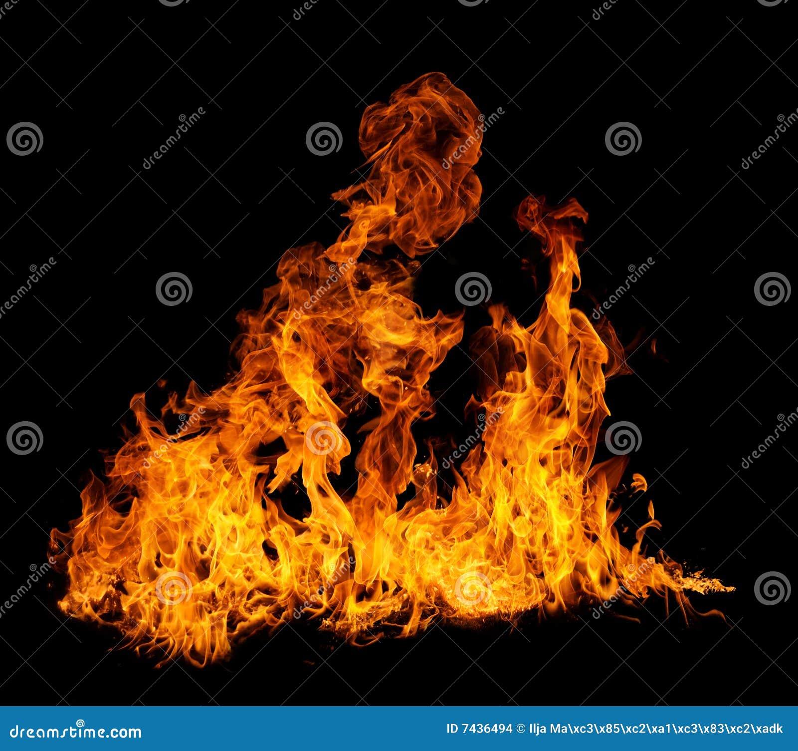 Geïsoleerdee vlammen