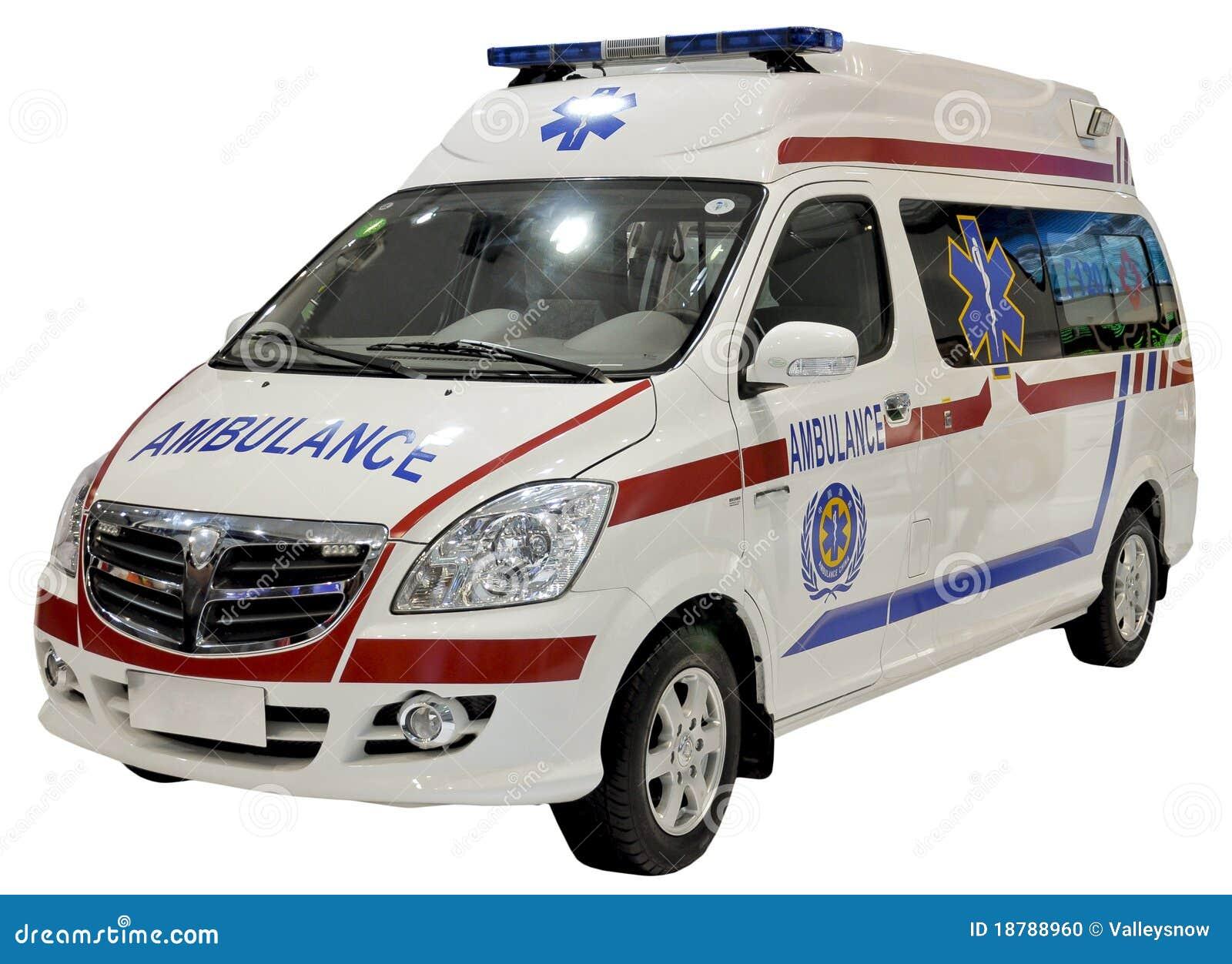 Geïsoleerdeg de bestelwagen van de ziekenwagen