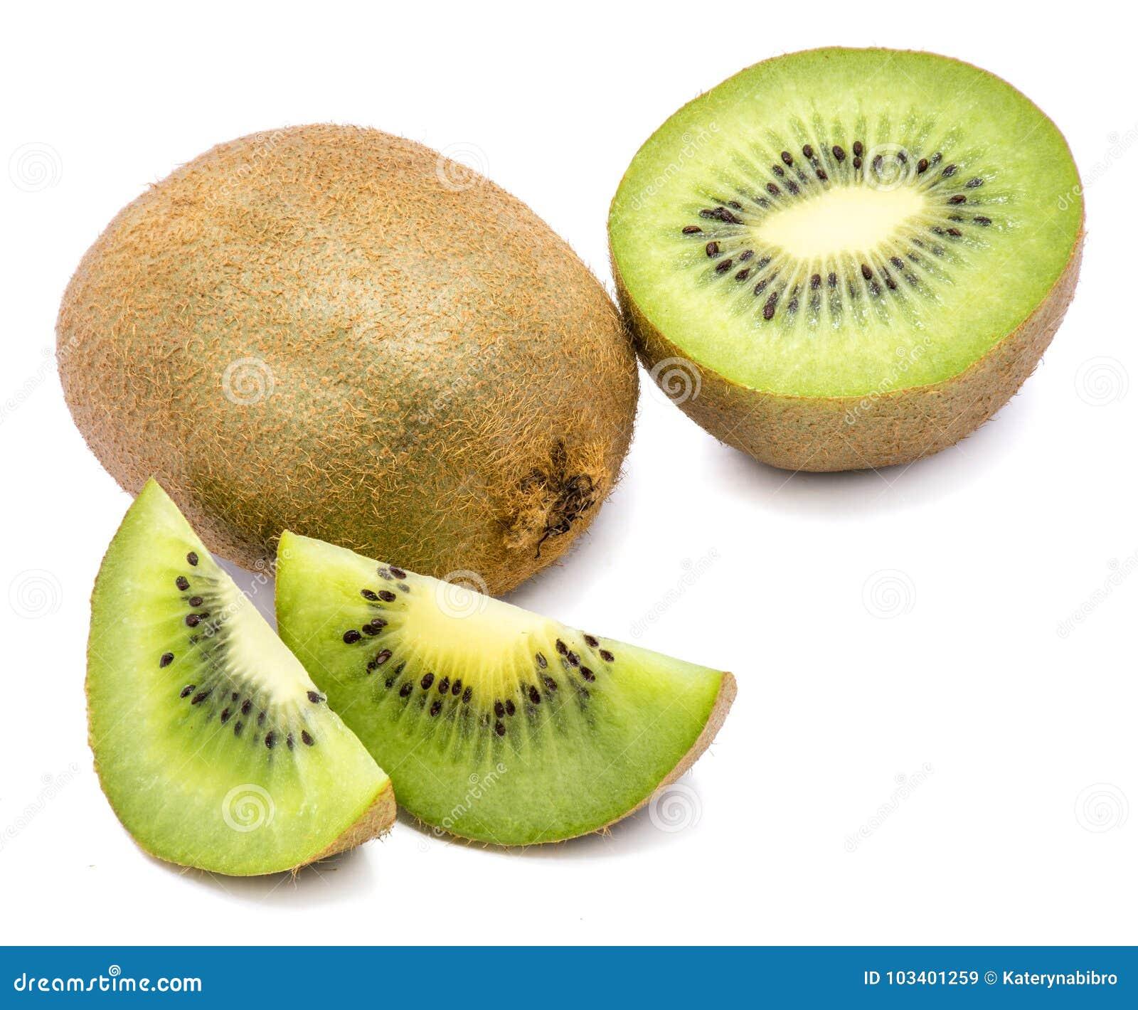 Geïsoleerdes het fruit van de kiwi