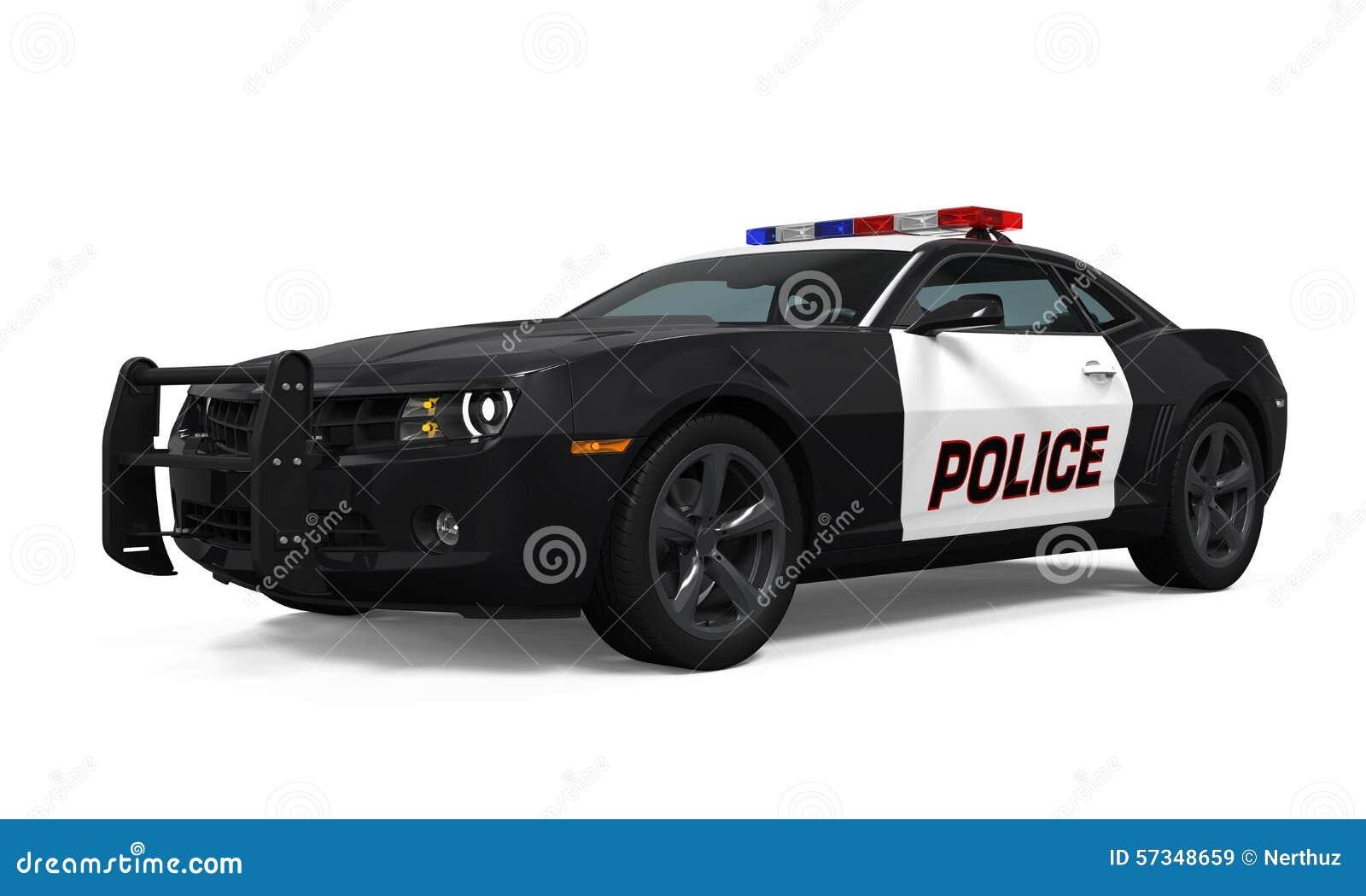 Geïsoleerdet politiewagen