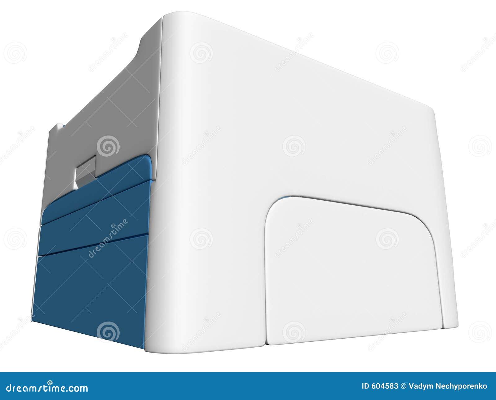 Geïsoleerdet printer 02