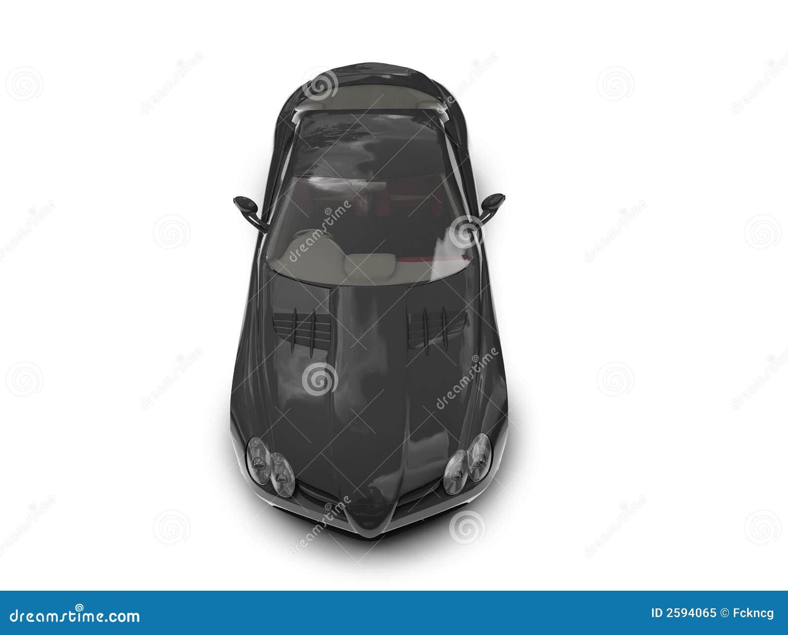 Geïsoleerdet zwarte super autobovenkant